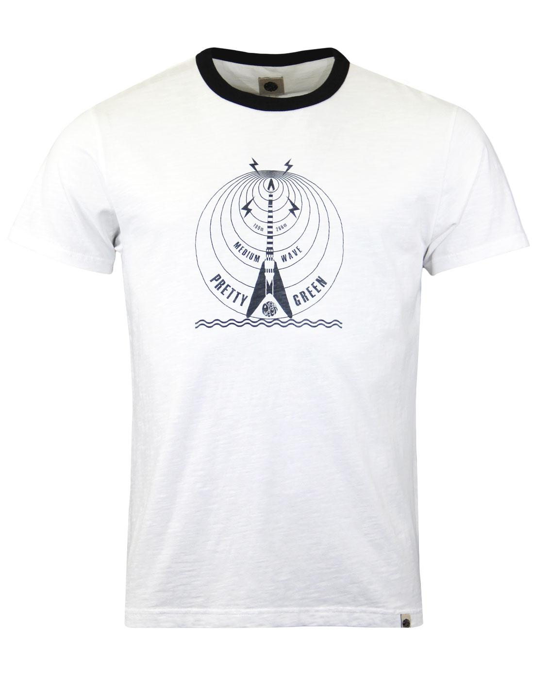 Mediumwave PRETTY GREEN Retro Pirate Radio Tee (W)