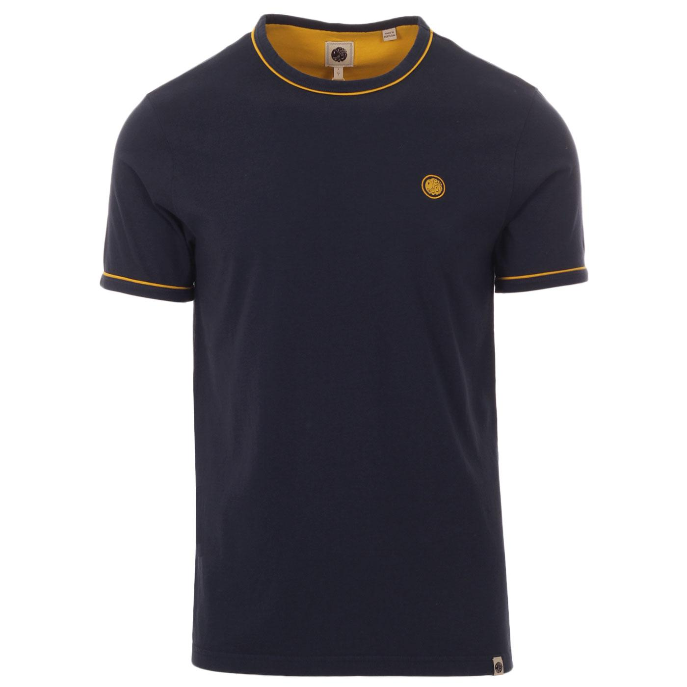 PRETTY GREEN Retro Contrast Piping Ringer Tee (N)