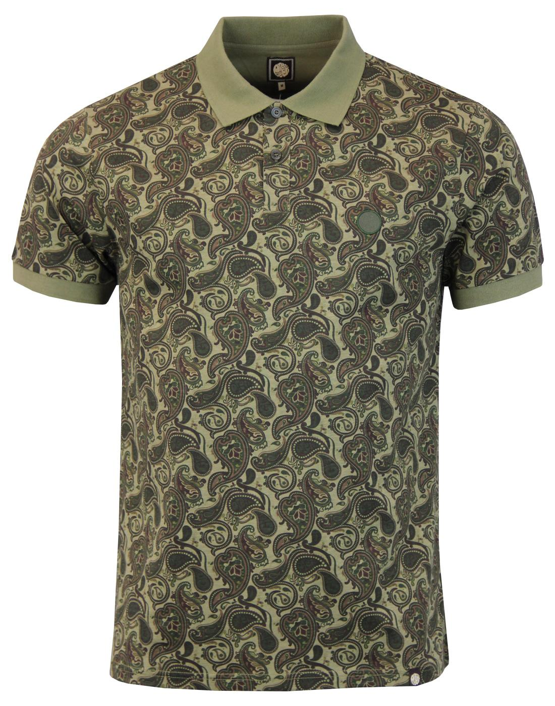 Ryder PRETTY GREEN 60s Mod Signature Paisley Polo