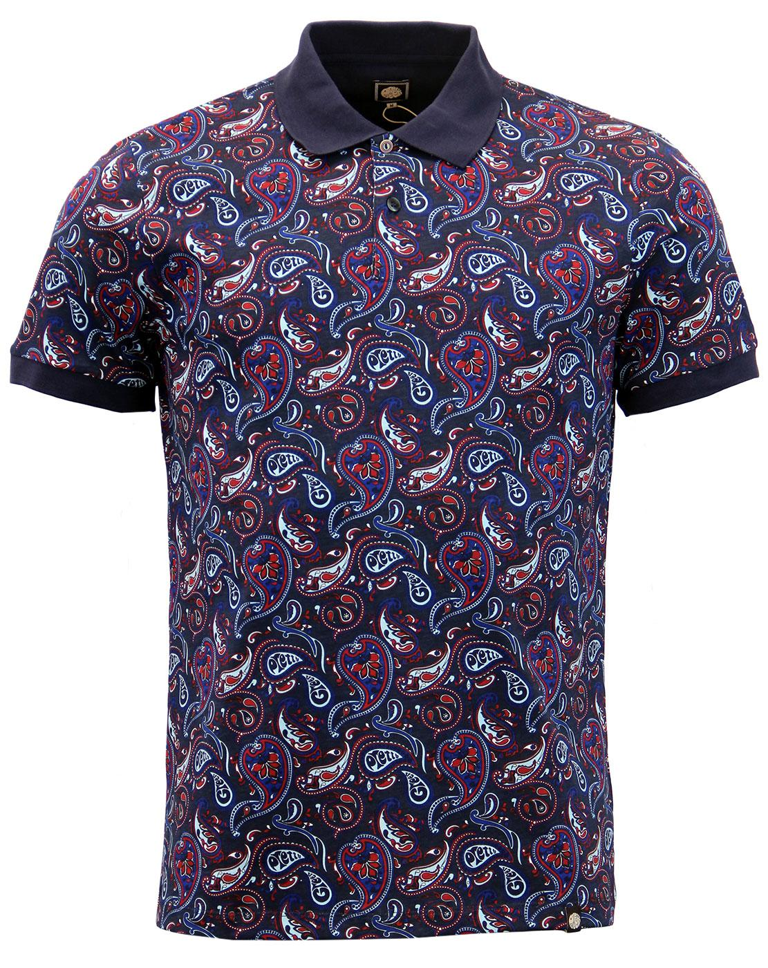 Sefton PRETTY GREEN Mod Psychedelic Paisley Polo