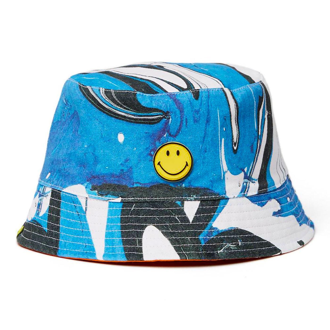 PRETTY GREEN X SMILEY® Retro 90's Bucket Hat BLUE