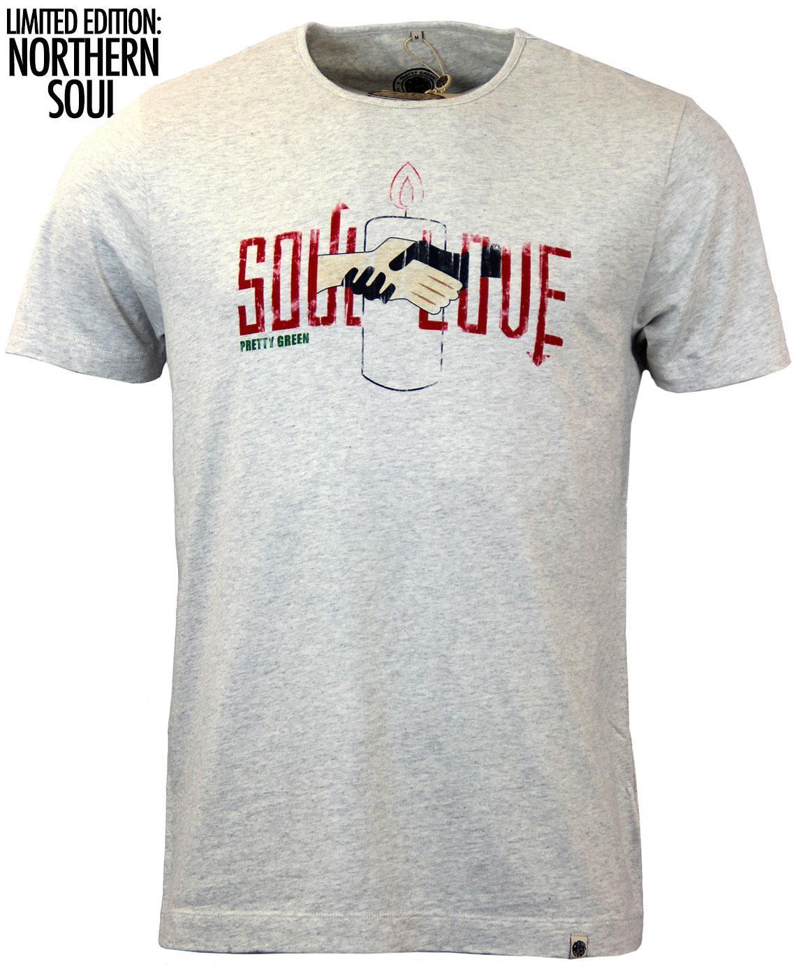 Pretty Green Soul Love Northern Soul T Shirt In Stone