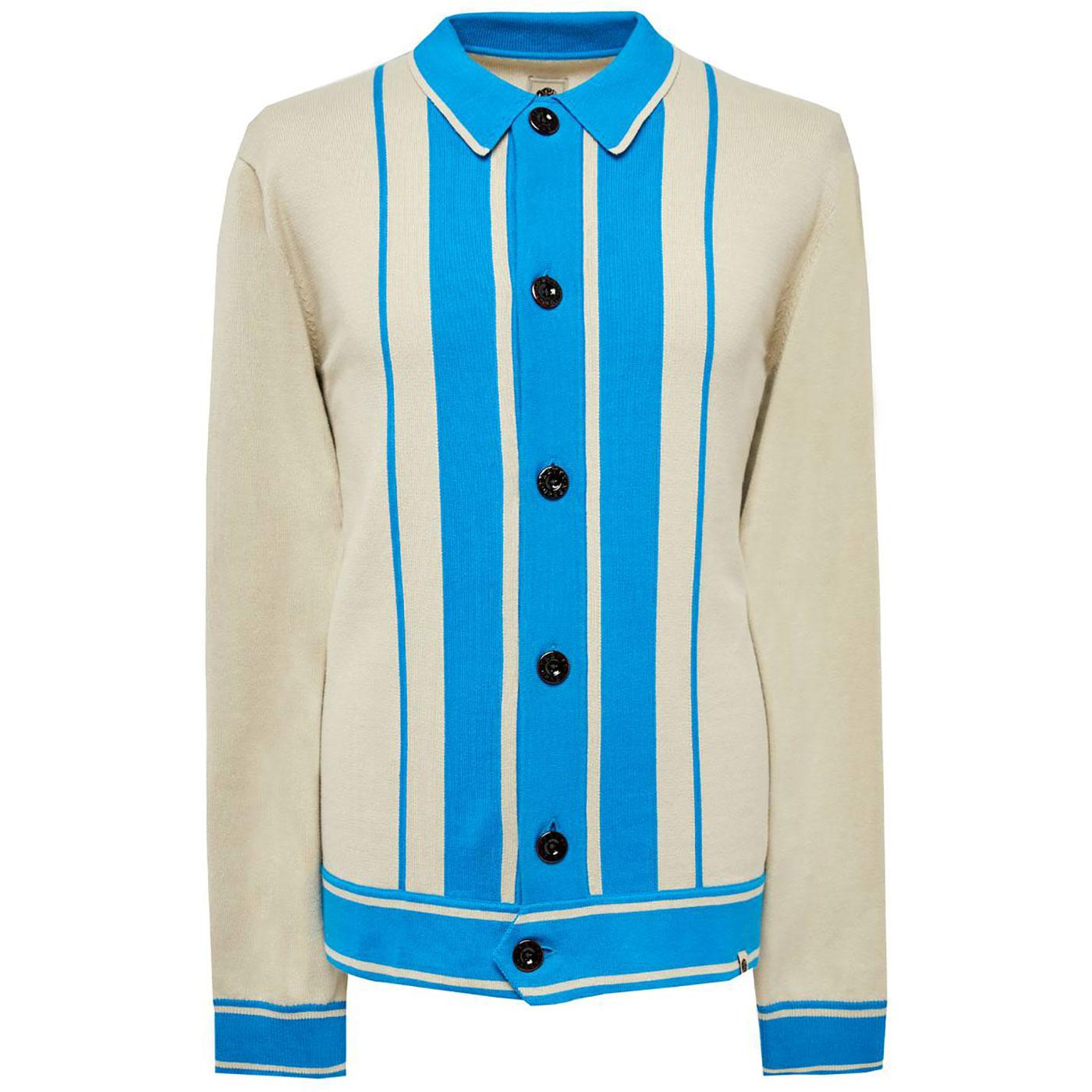 PRETTY GREEN Bold Button Through Stripe Cardigan S