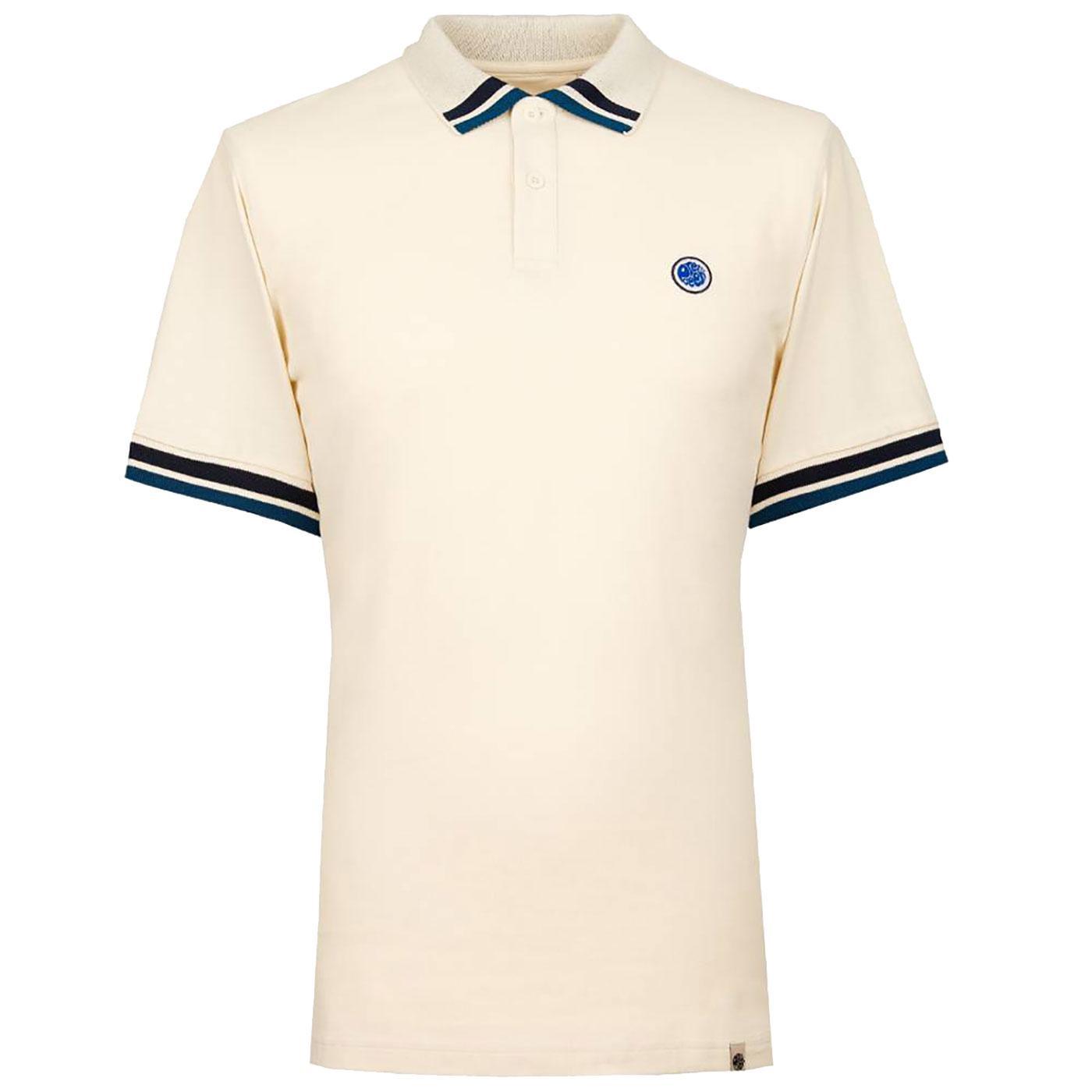 PRETTY GREEN Retro Contrast Tipping Polo Shirt W