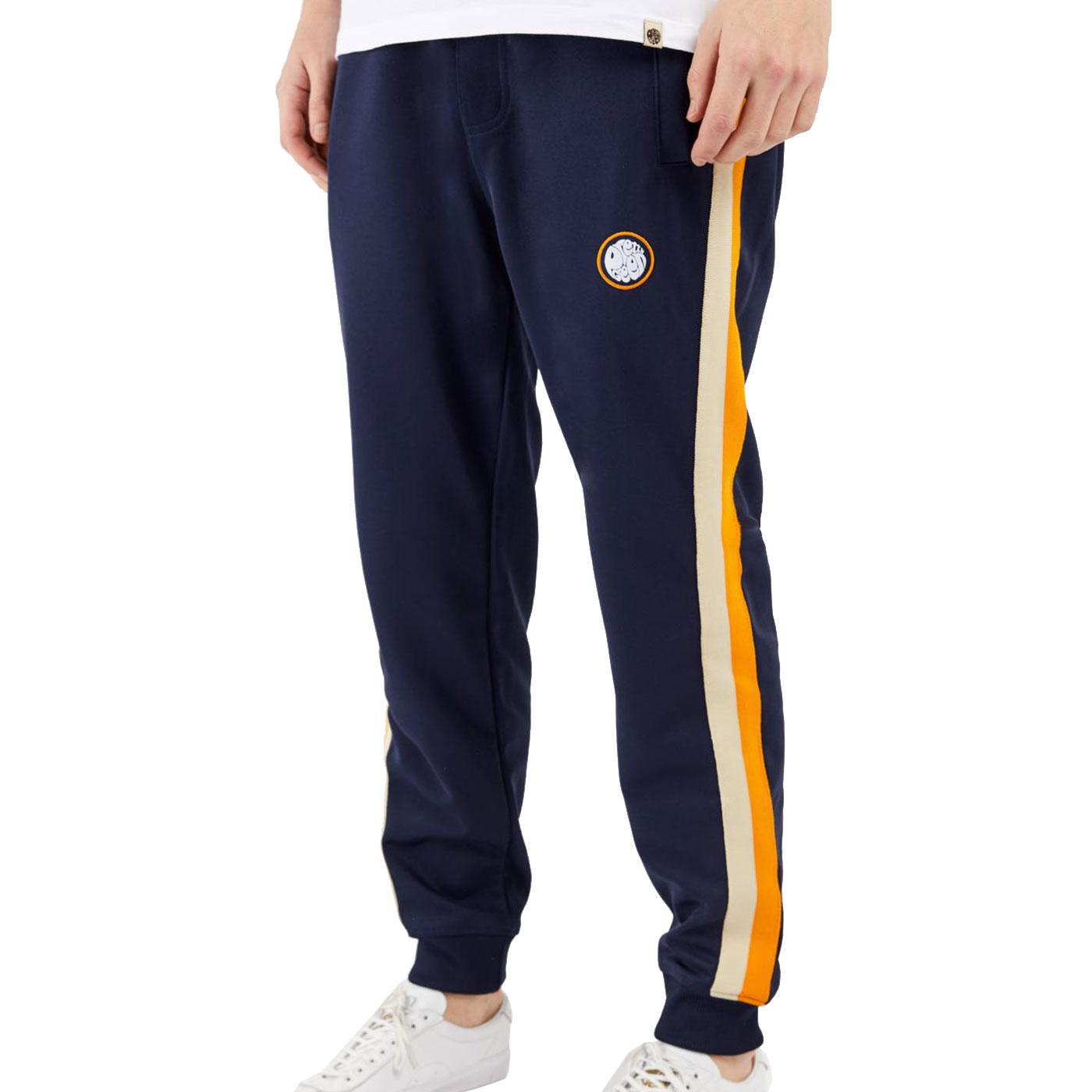 PRETTY GREEN Mens Contrast Stripe Track Pants NAVY