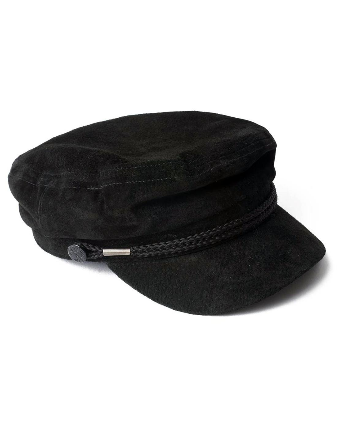 PRETTY GREEN Men's Retro Mod 60s Suede Beatle Hat