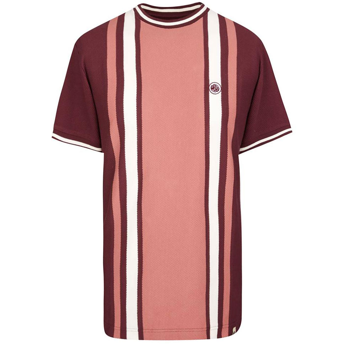 PRETTY GREEN Men's Mod Textured Stripe T-Shirt R