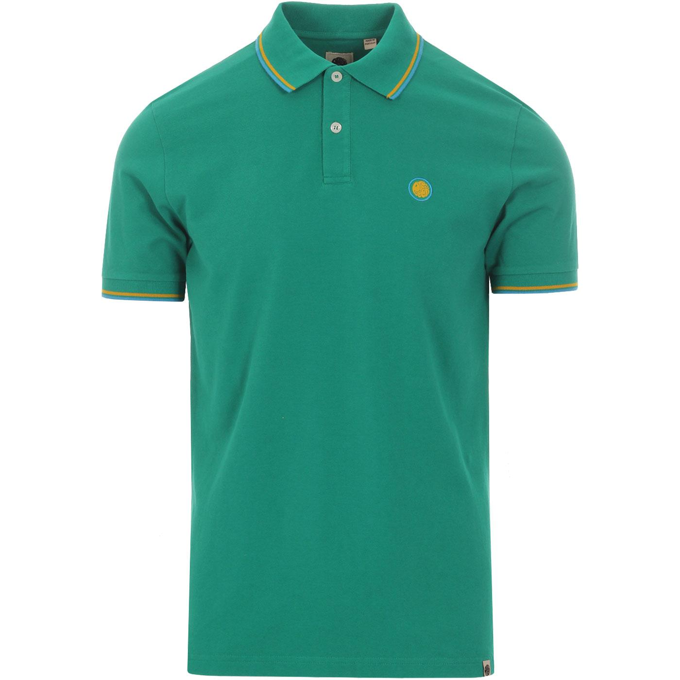 PRETTY GREEN Men's Mod Tipped Pique Polo Shirt