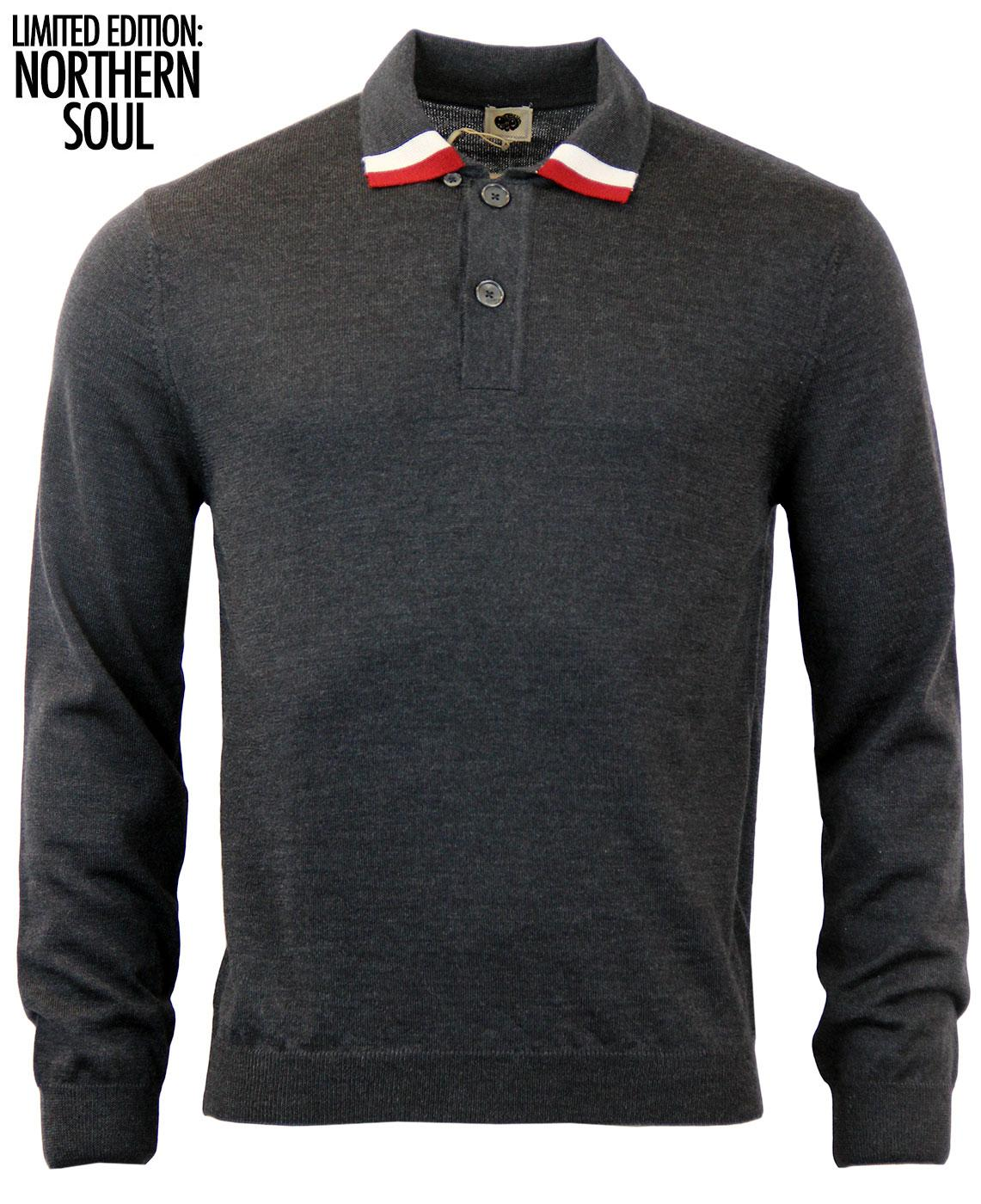 Marvin PRETTY GREEN Retro Northern Soul Knit Polo