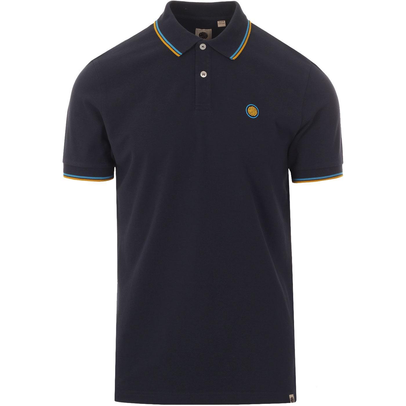 PRETTY GREEN Men's Mod Tipped Pique Polo Shirt N