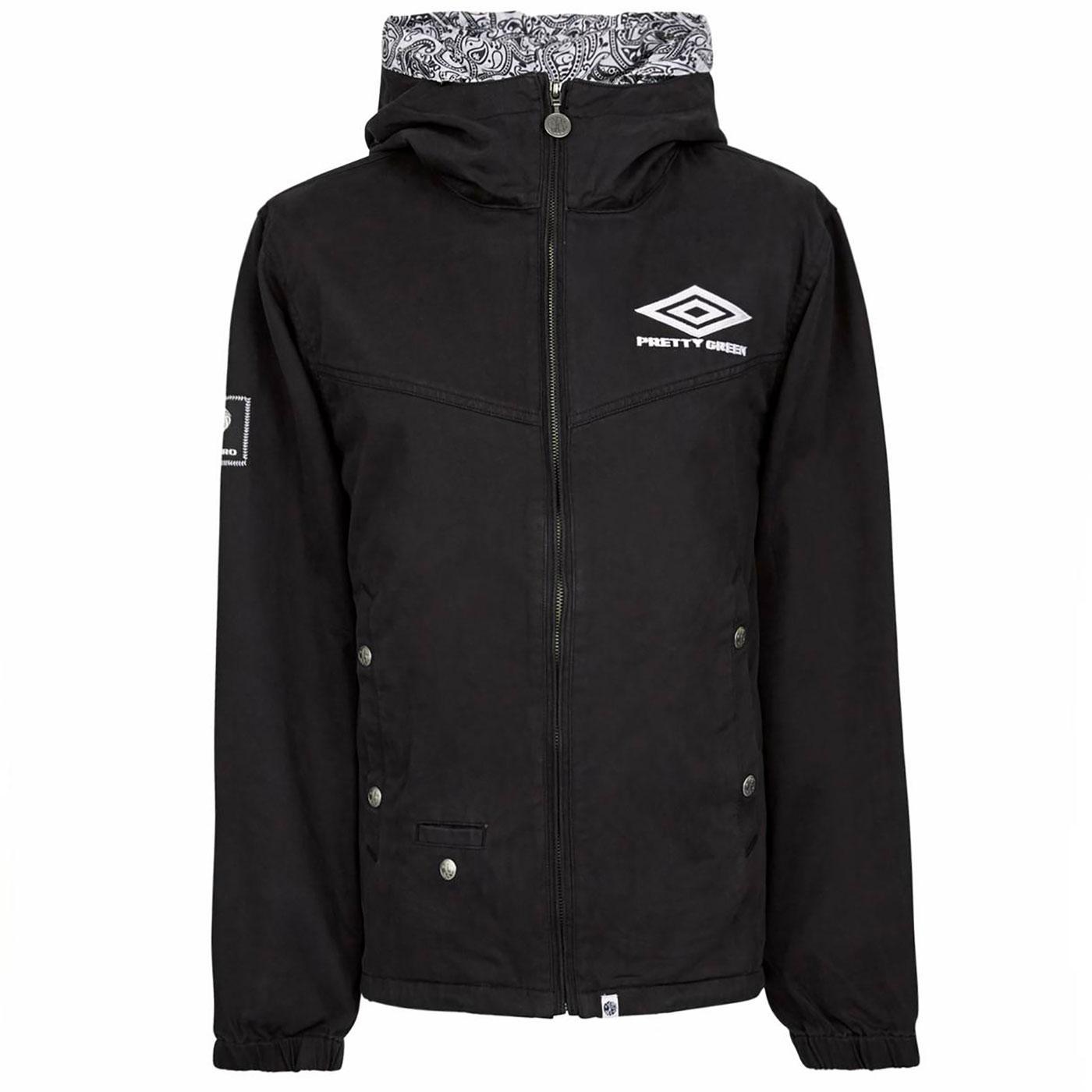 PRETTY GREEN X UMBRO Retro Zip Up Hooded Jacket