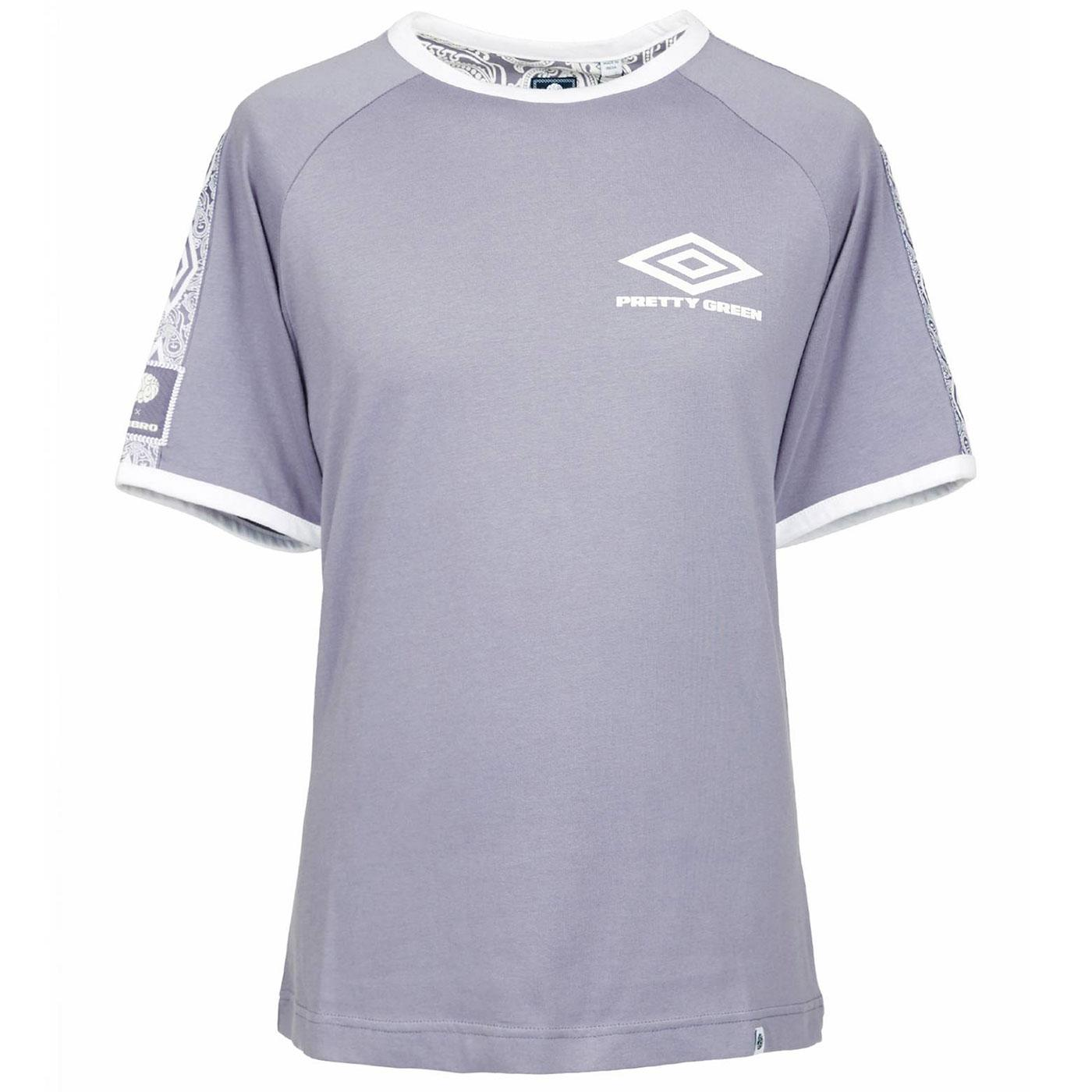 PRETTY GREEN X UMBRO Tape Sleeve Ringer Tee BLUE