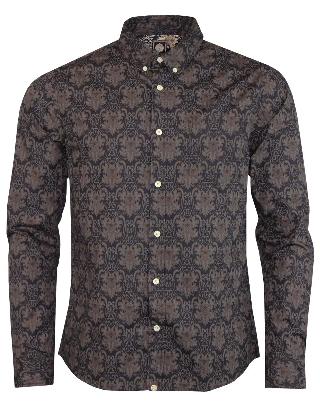 Wardour PRETTY GREEN Mod Abstract Print Shirt (B)