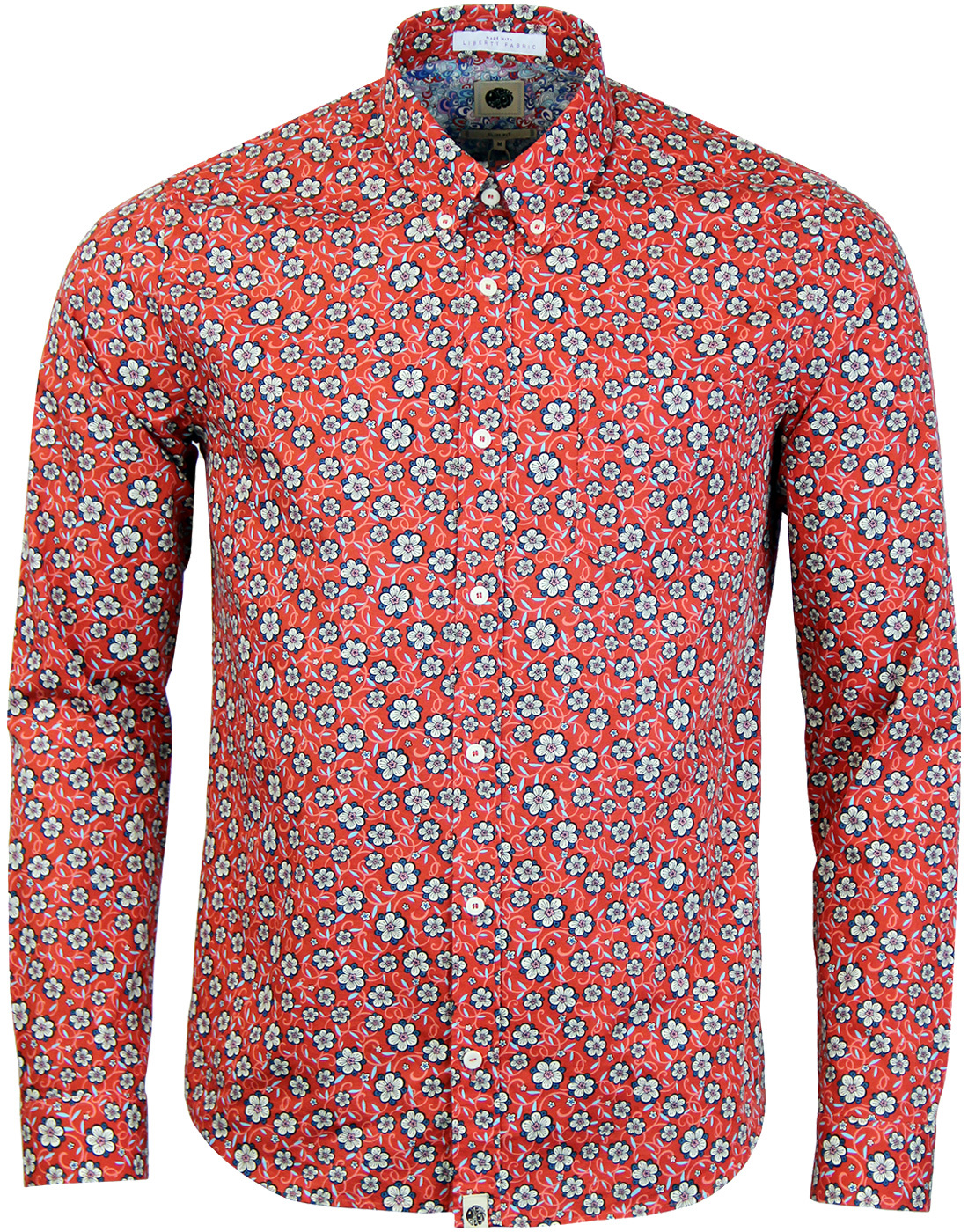 Wynne PRETTY GREEN Liberty Fabric 60s Floral Shirt