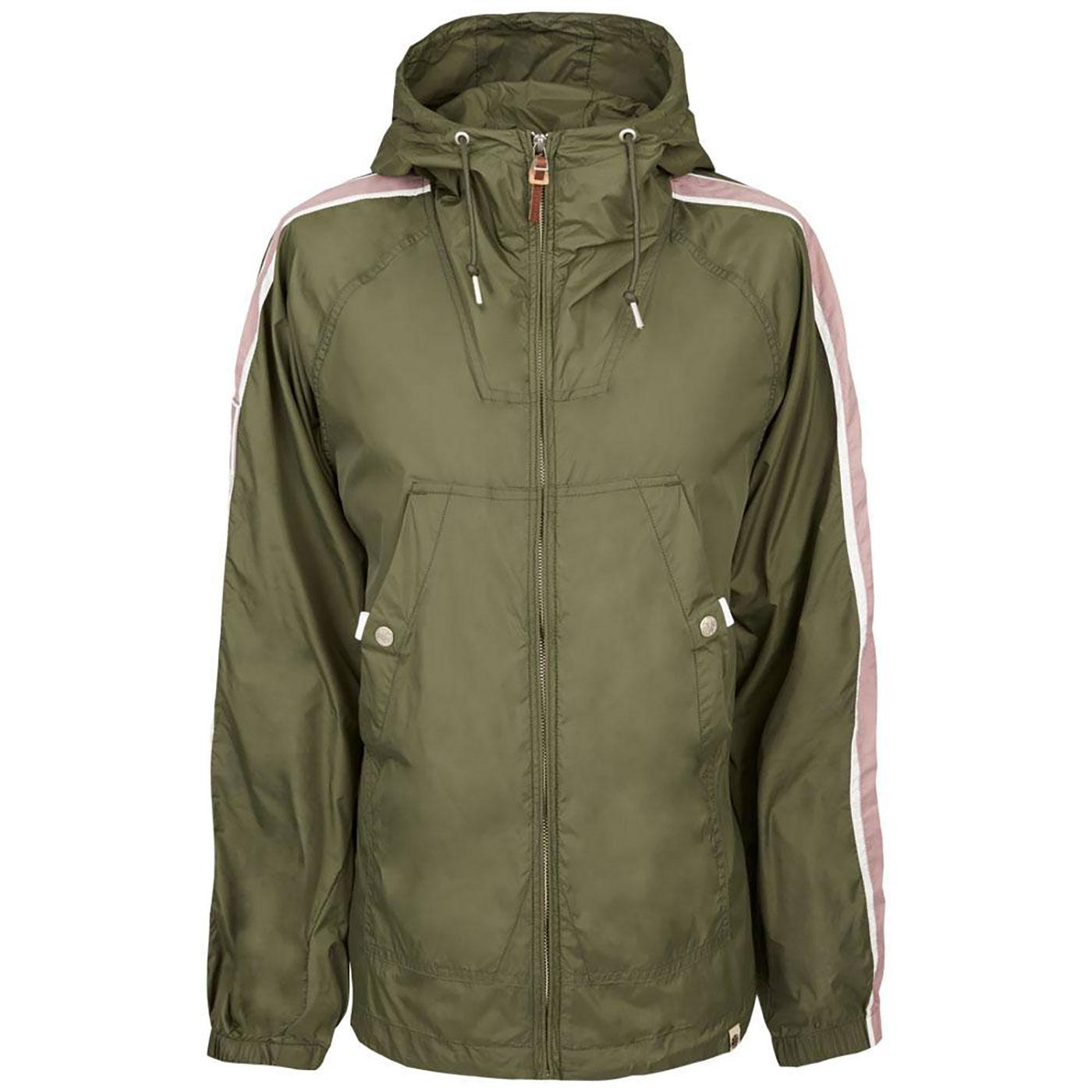 PRETTY GREEN Retro Mod Stripe Sleeve Jacket GREEN