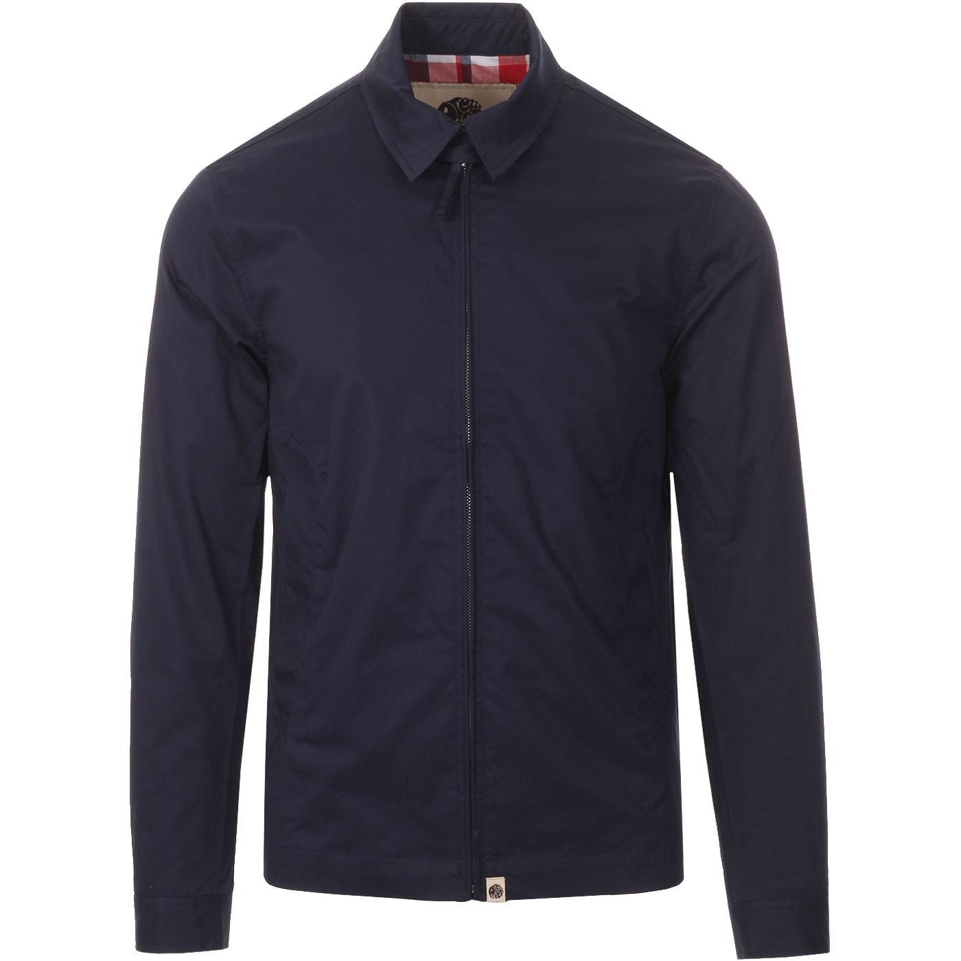 PRETTY GREEN Mens Retro Zip Up Harrington Jacket