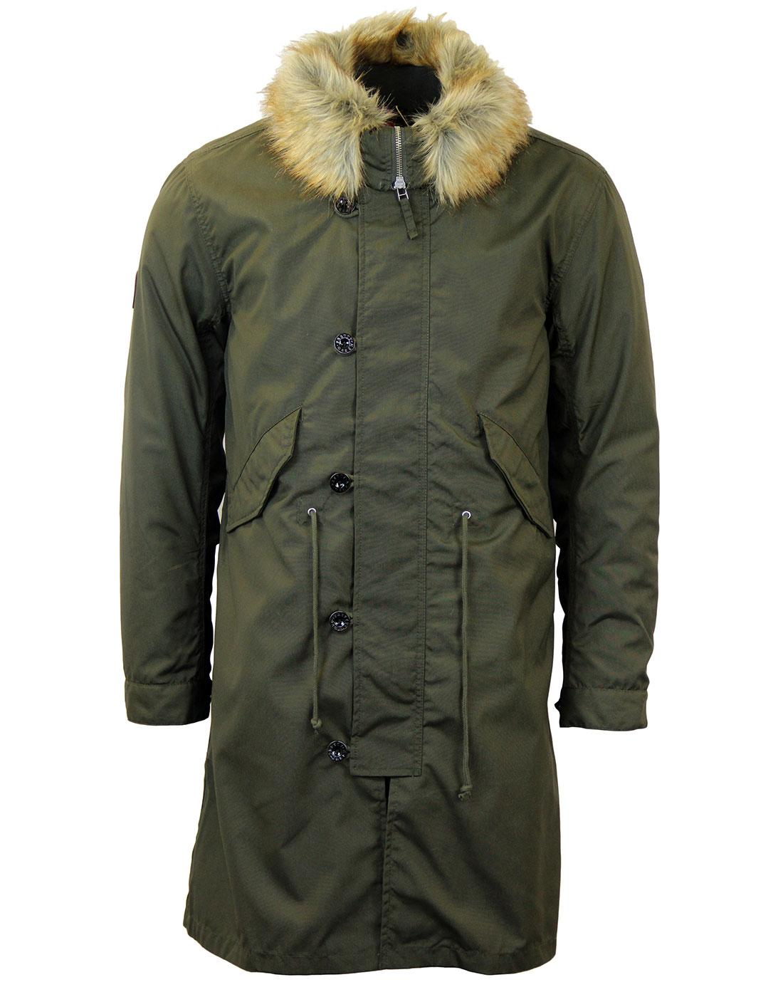Pretty Green Parka | Stunning Pretty Green Parka's Available | Free UK Delivery On All Orders. Women. Marmalade KHAKI / BLACK TWILL FUR HOODED PARKA - Signature leather Pretty Green zip puller Composition: % cotton Available in Khaki or Black: SIZING | .