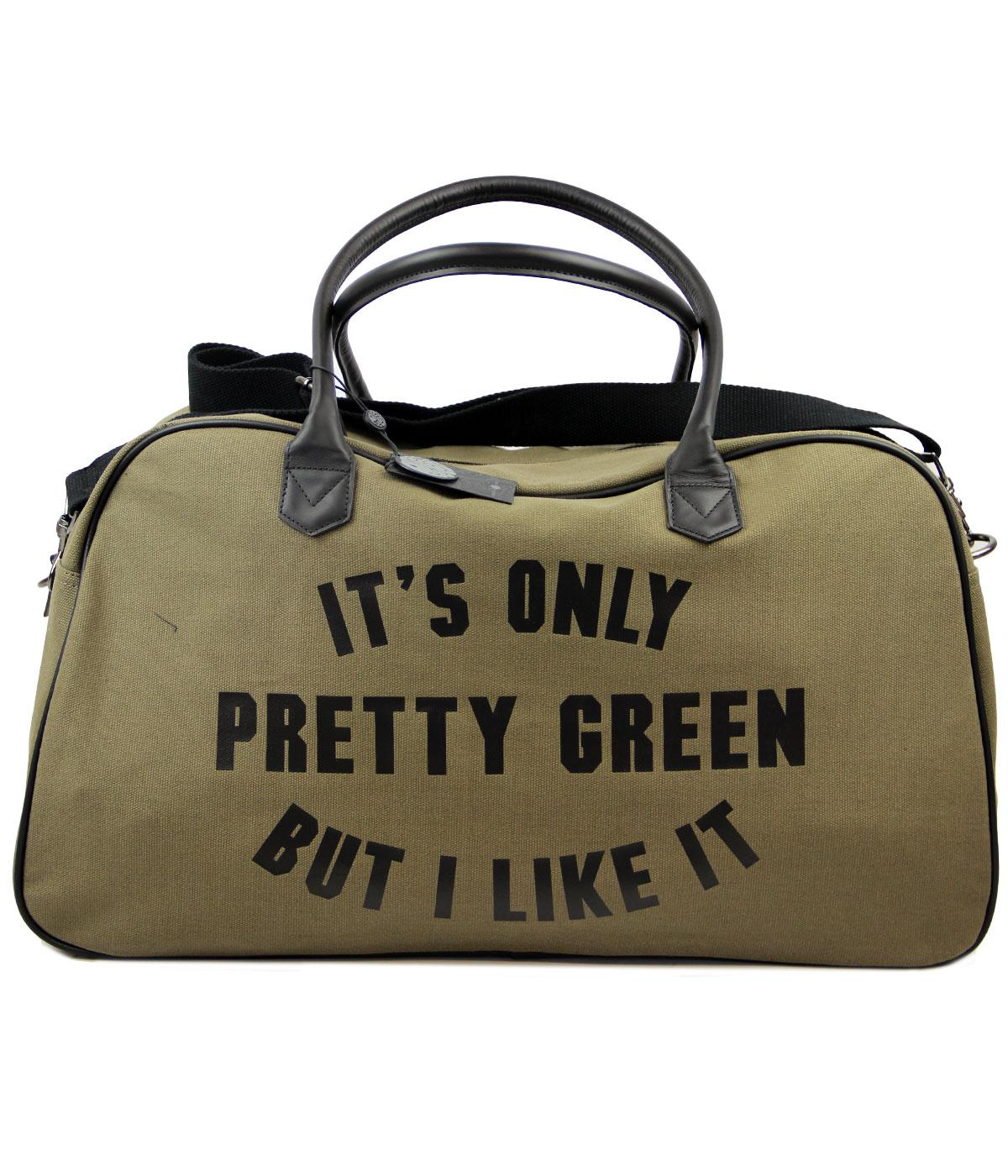 PRETTY GREEN Retro Indie Mod Its Only Pretty Green Weekender Bag