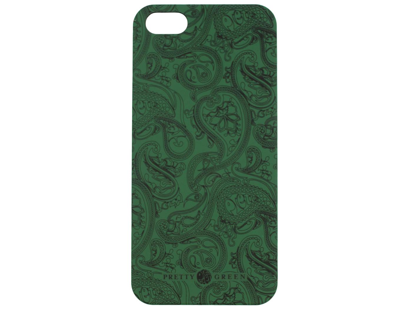 PRETTY GREEN 60s Mod Paisley iPhone 5 Case (GREEN)