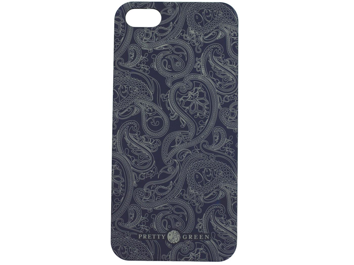 PRETTY GREEN Retro 60s Mod Paisley iPhone 5 Case in Navy