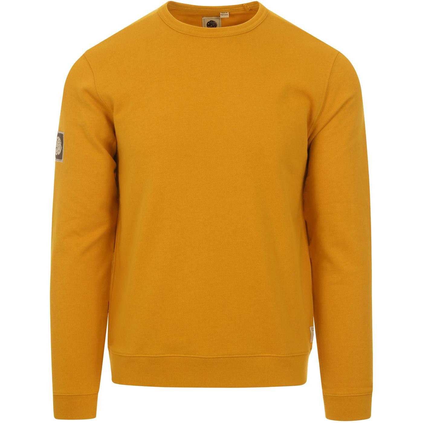 PRETTY GREEN Retro 90s Crew Sweatshirt (Orange)