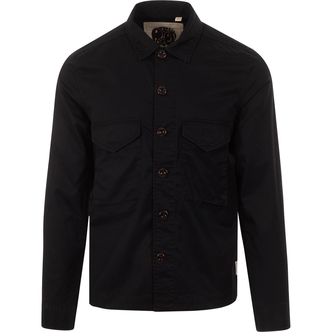 PRETTY GREEN Mod Cotton Button Through Overshirt B