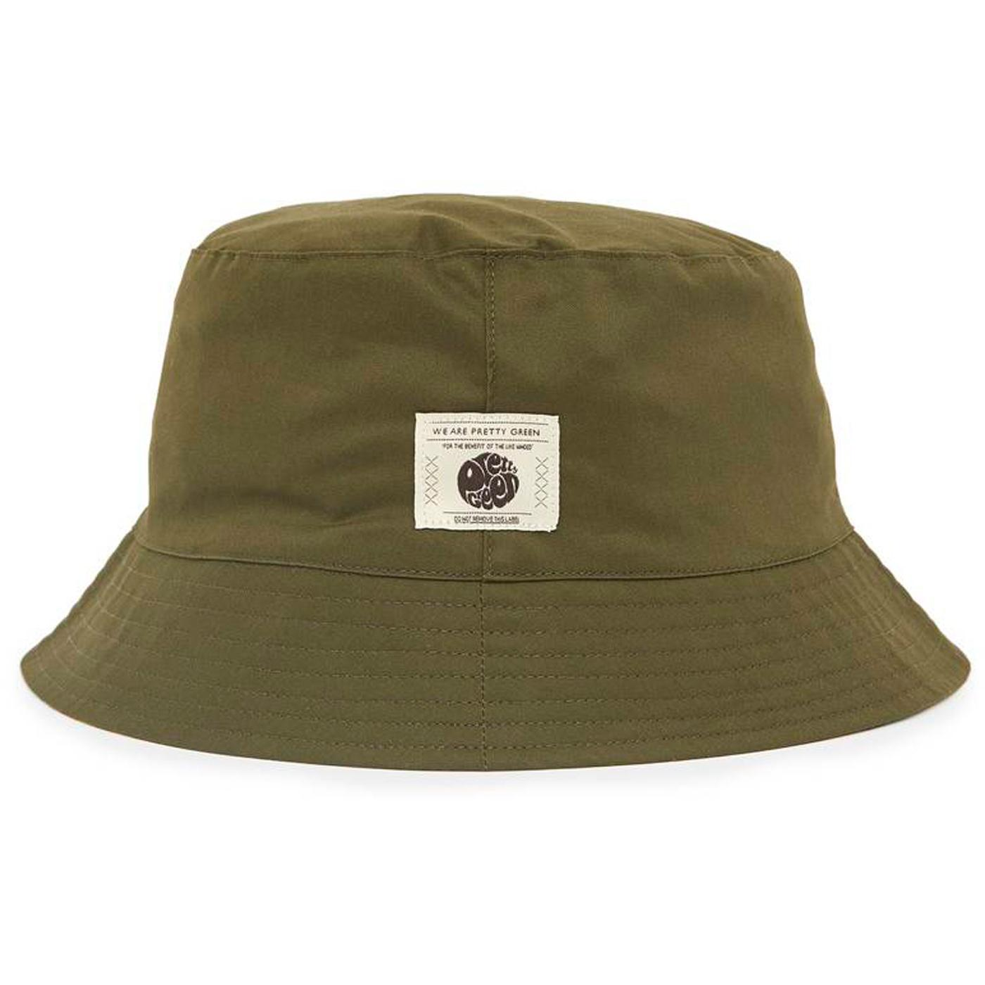 PRETTY GREEN Reversible Painted Camo Bucket Hat