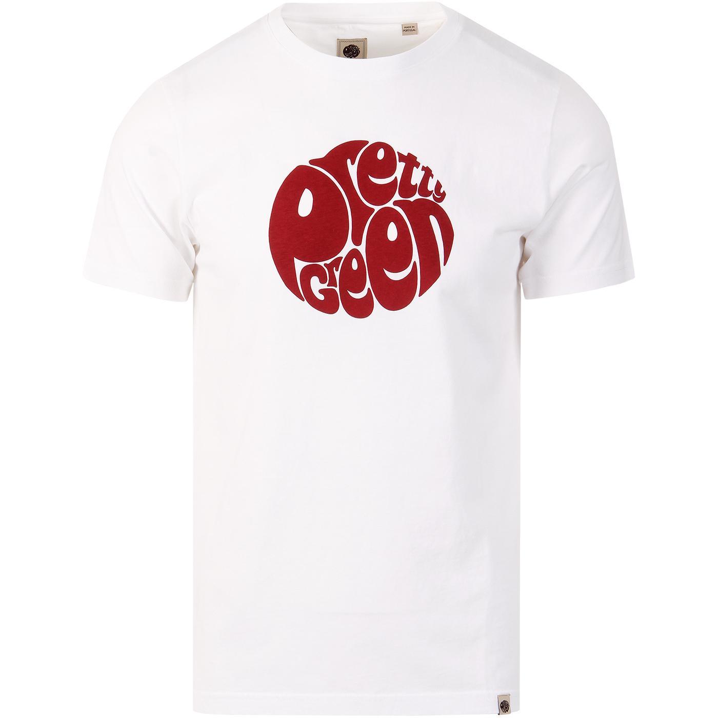 PRETTY GREEN Mens Retro Classic Logo Print T-Shirt