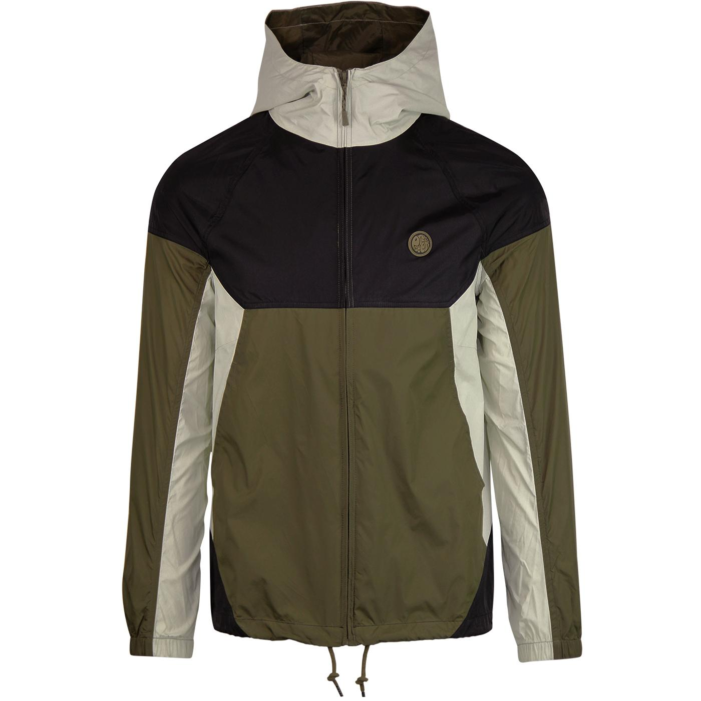 PRETTY GREEN Retro Contrast Panel Hooded Jacket K