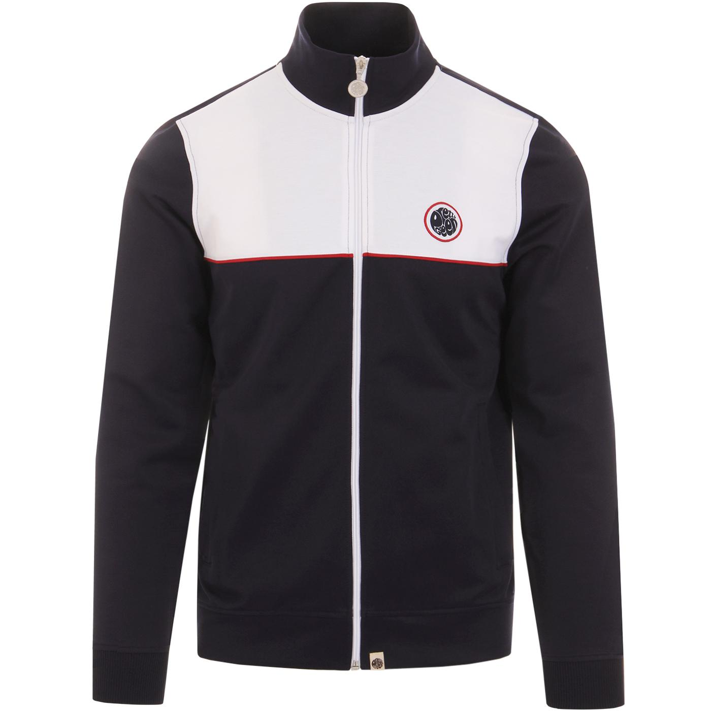 PRETTY GREEN Retro 80s Contrast Panel Track Top N