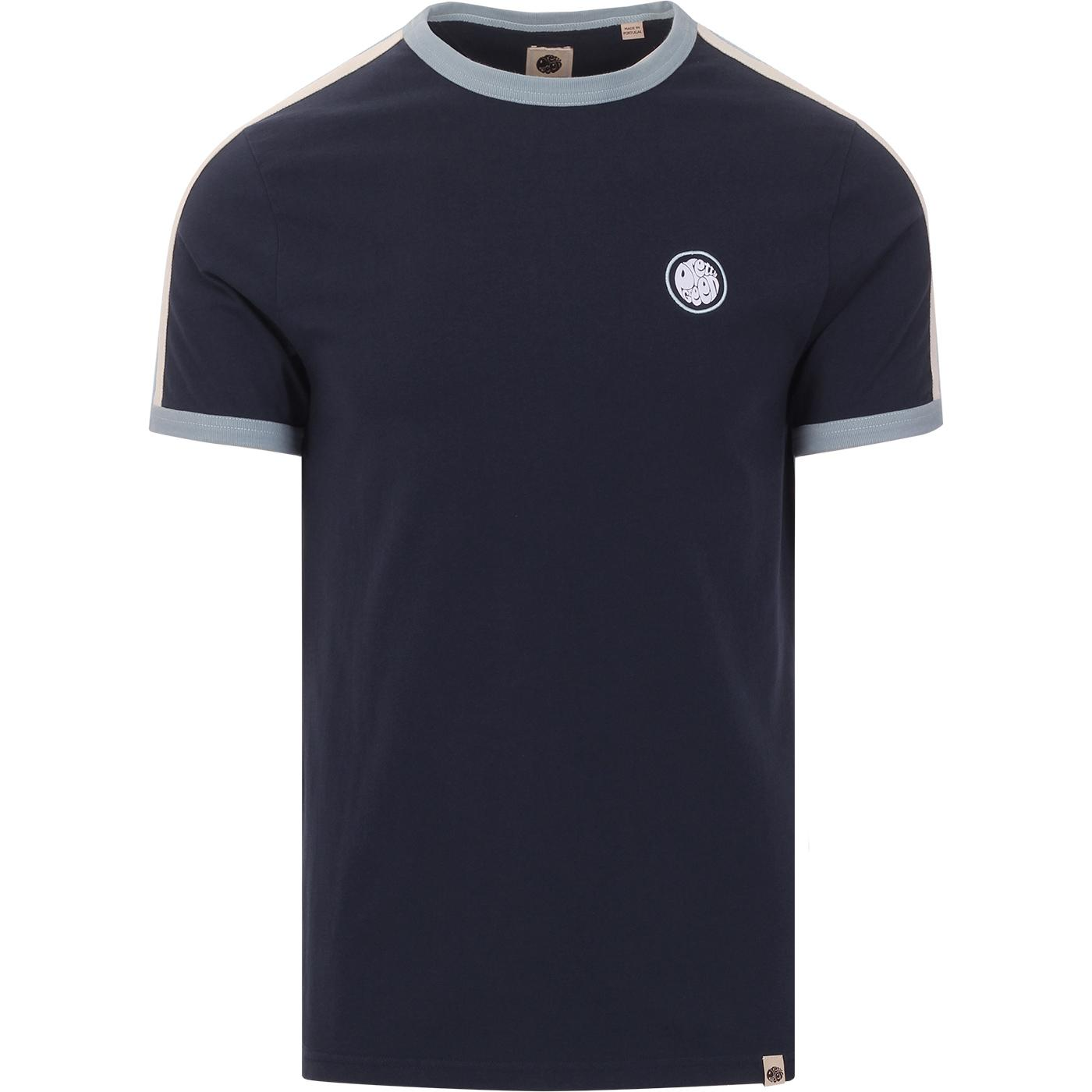PRETTY GREEN Men's Retro Contrast Panel Tee (Navy)