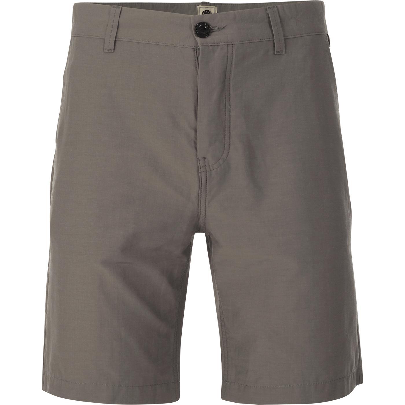 PRETTY GREEN Men's Retro Button Fly Shorts (Grey)