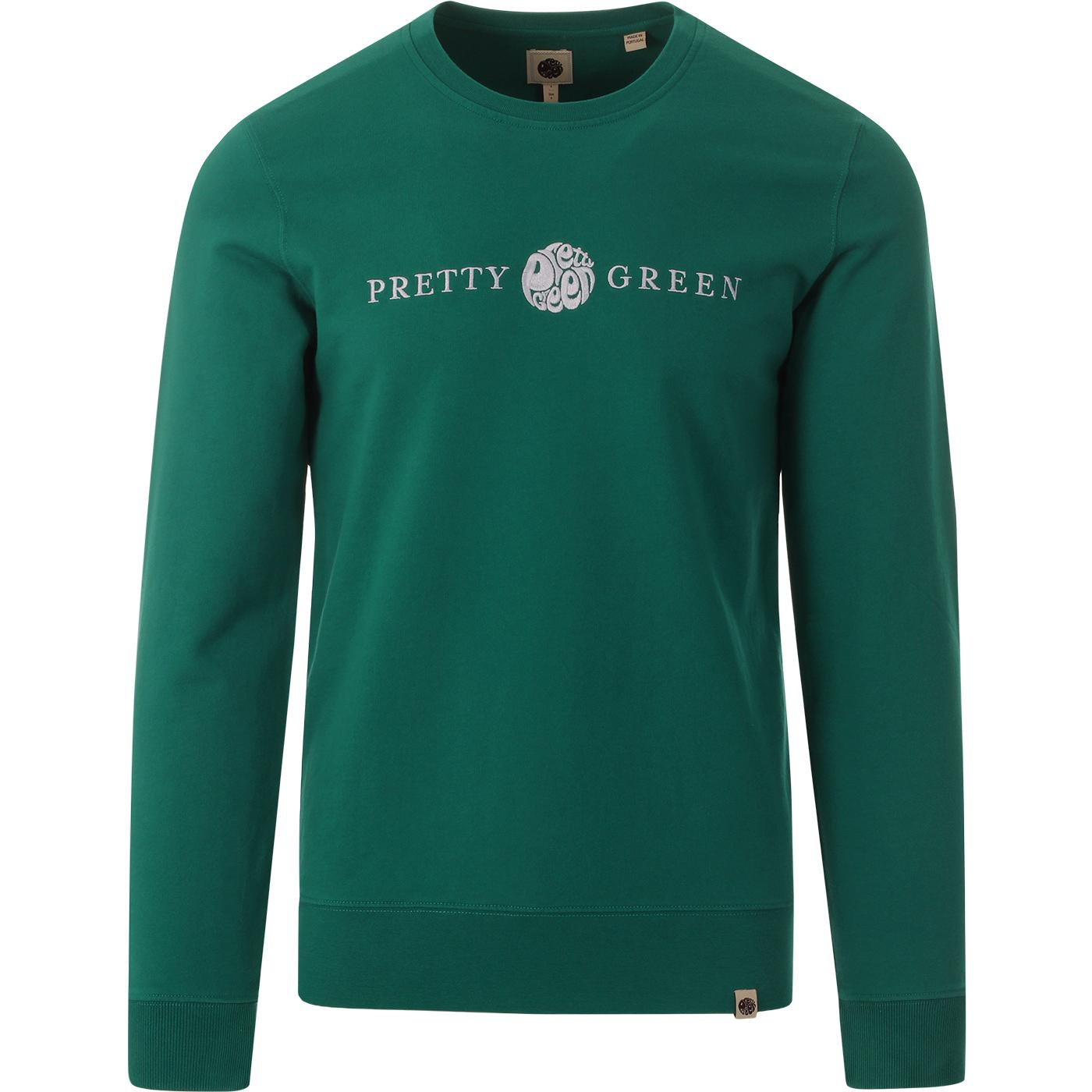 PRETTY GREEN Retro Embroidered Logo Sweatshirt (G)