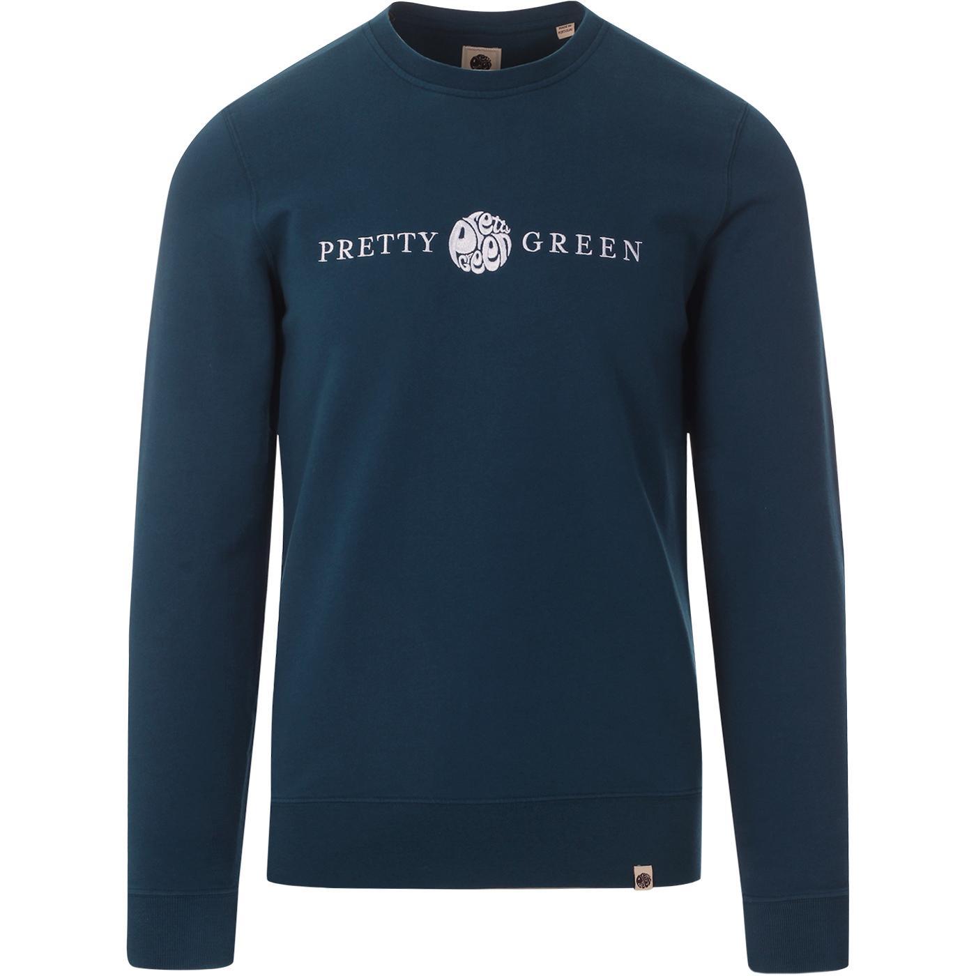 PRETTY GREEN Retro Embroidered Logo Sweatshirt (N)