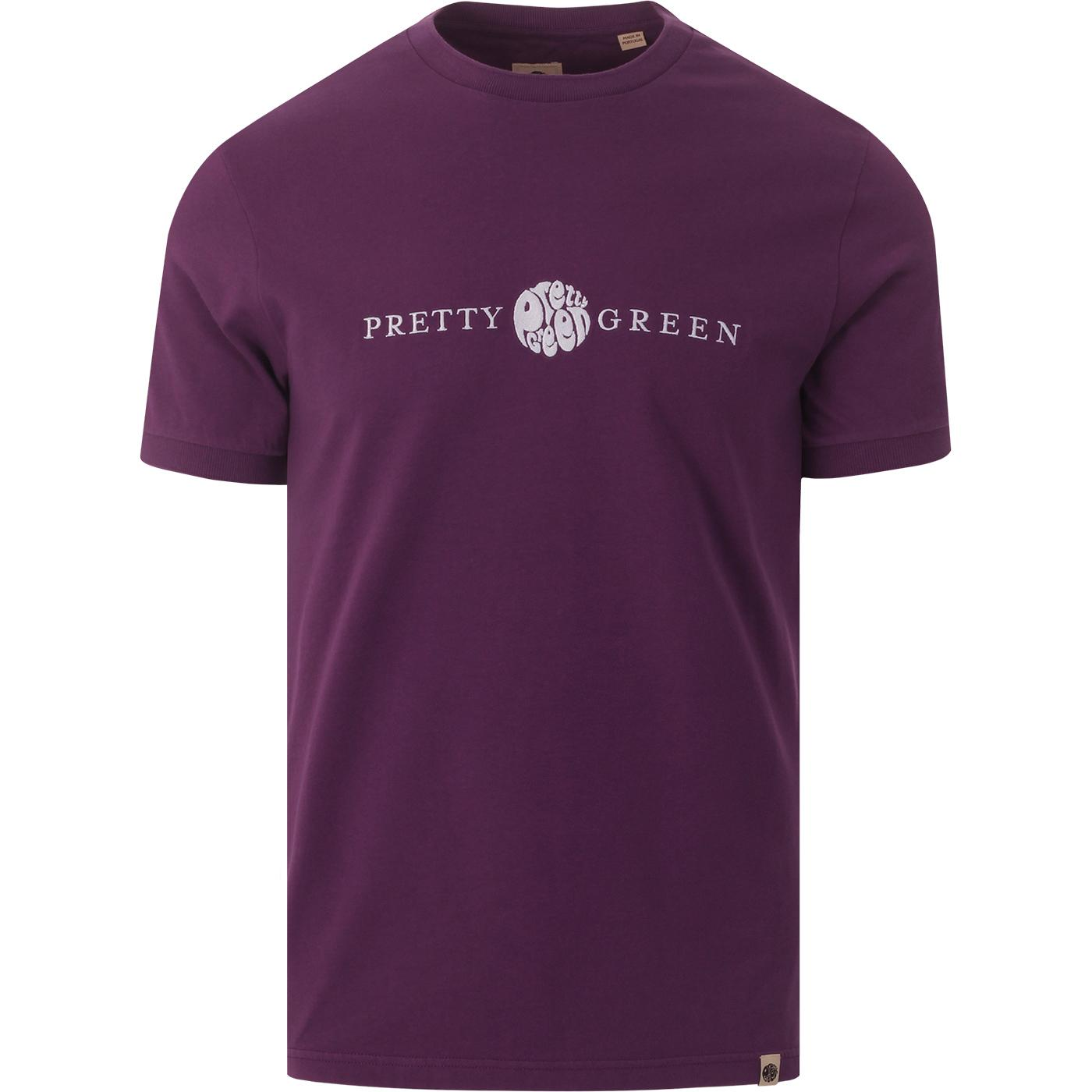 S20MU15000089 embroidered tee purple