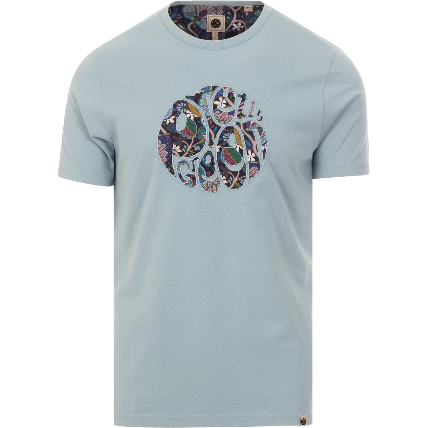 PRETTY GREEN Mod Liberty Floral Applique Tee BLUE