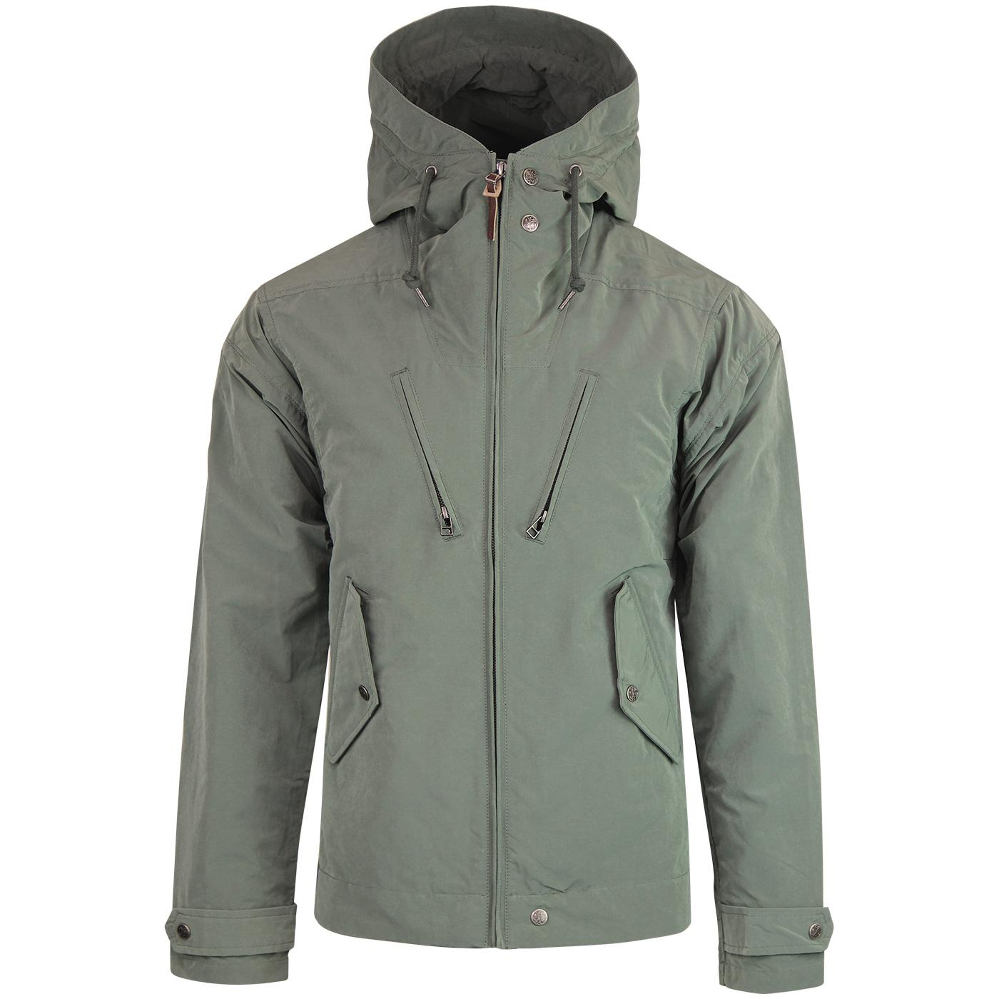 Atherton PRETTY GREEN Hooded 4 Pocket Jacket GREEN