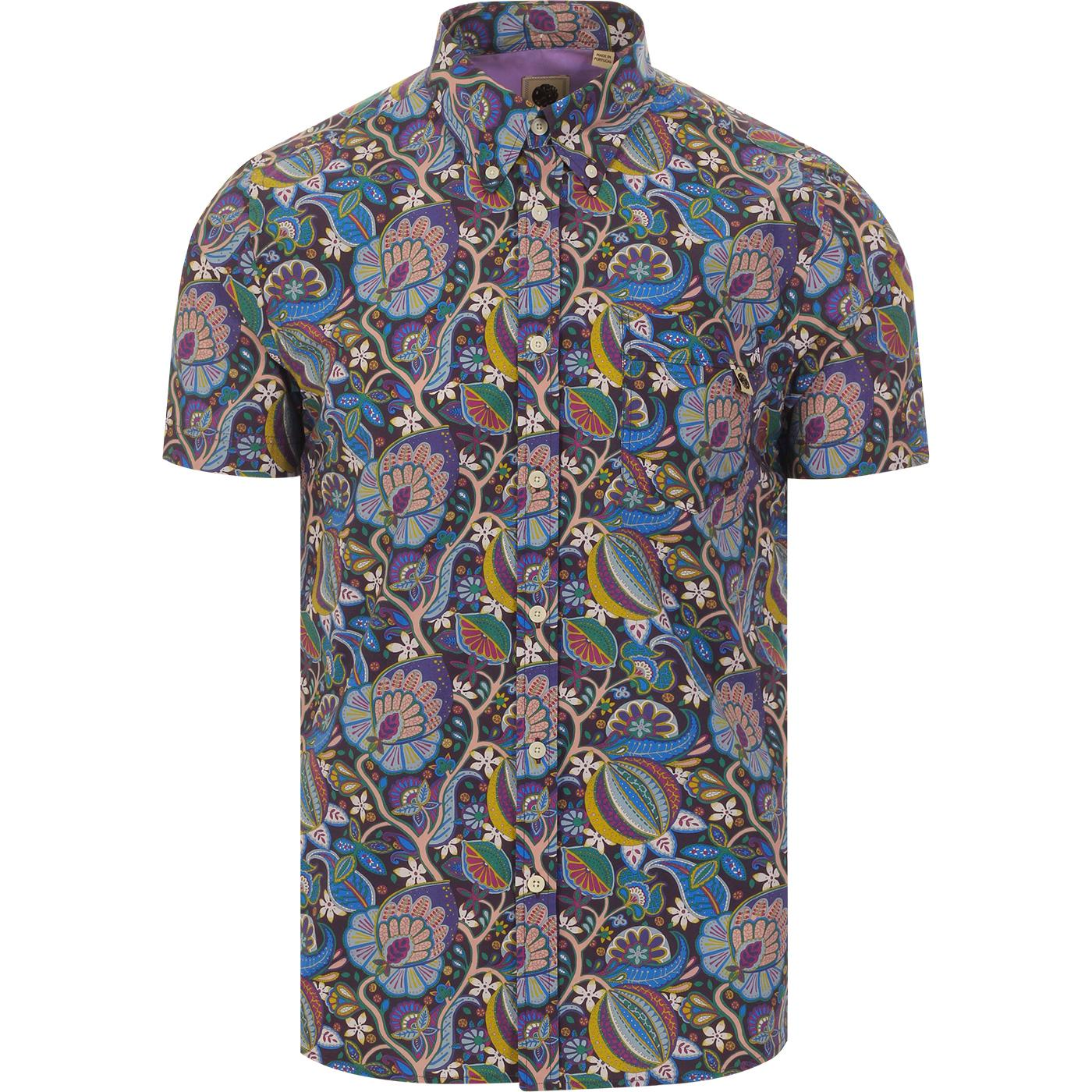 PRETTY GREEN Mod Liberty Floral Paisley S/S Shirt