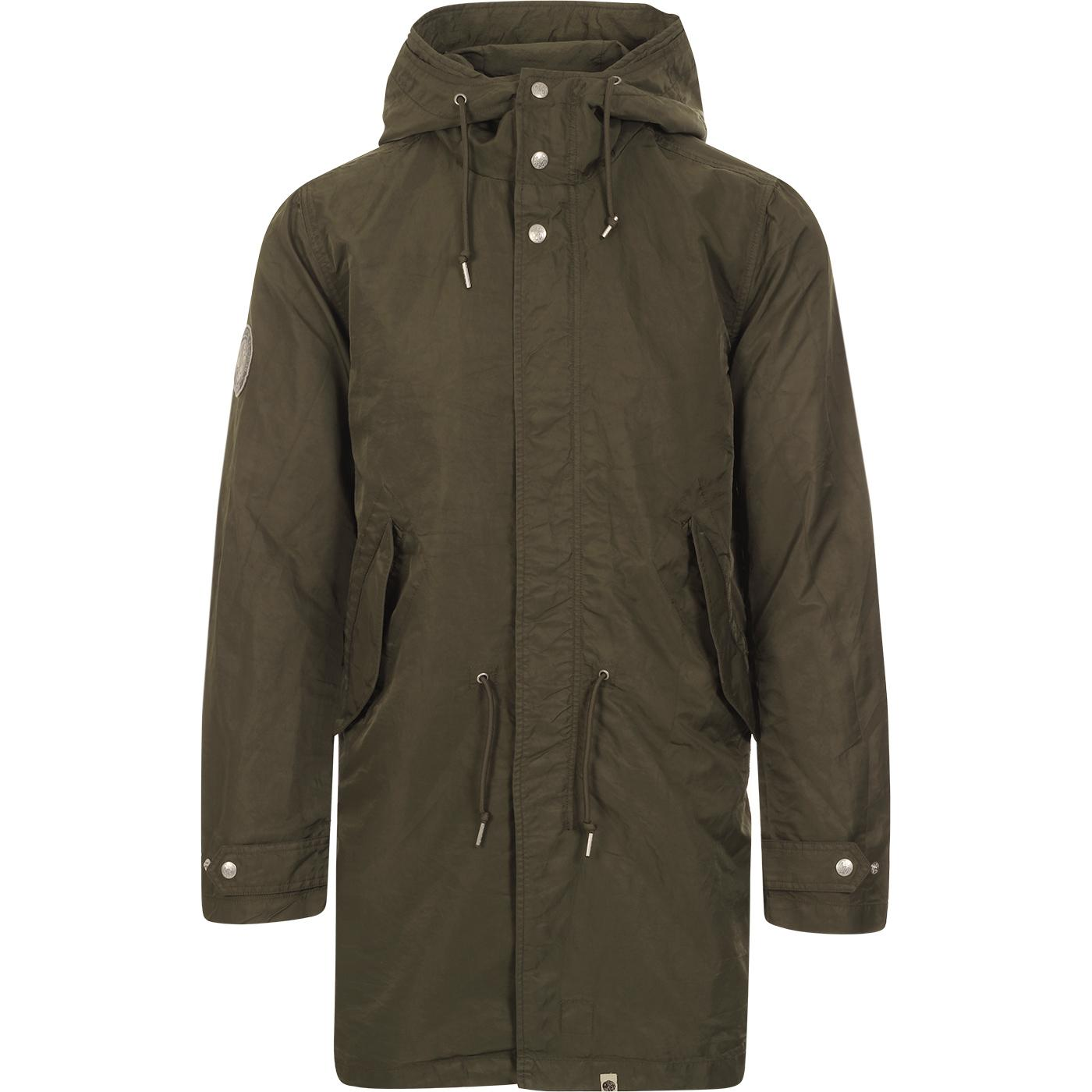 PRETTY GREEN Mod Likeminded Nylon Parka (Khaki)