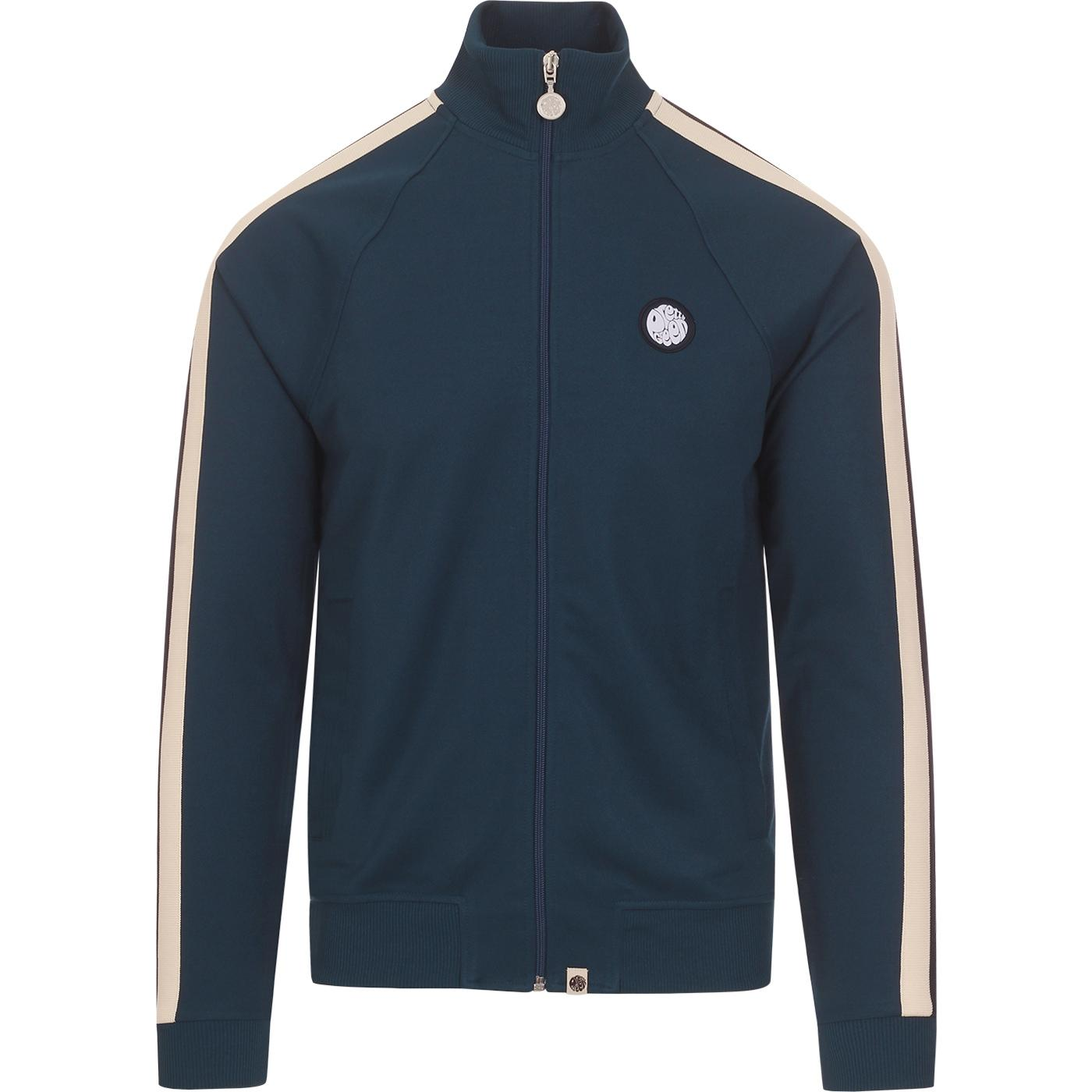 PRETTY GREEN Retro 90s Side Stripe Track Top BLUE