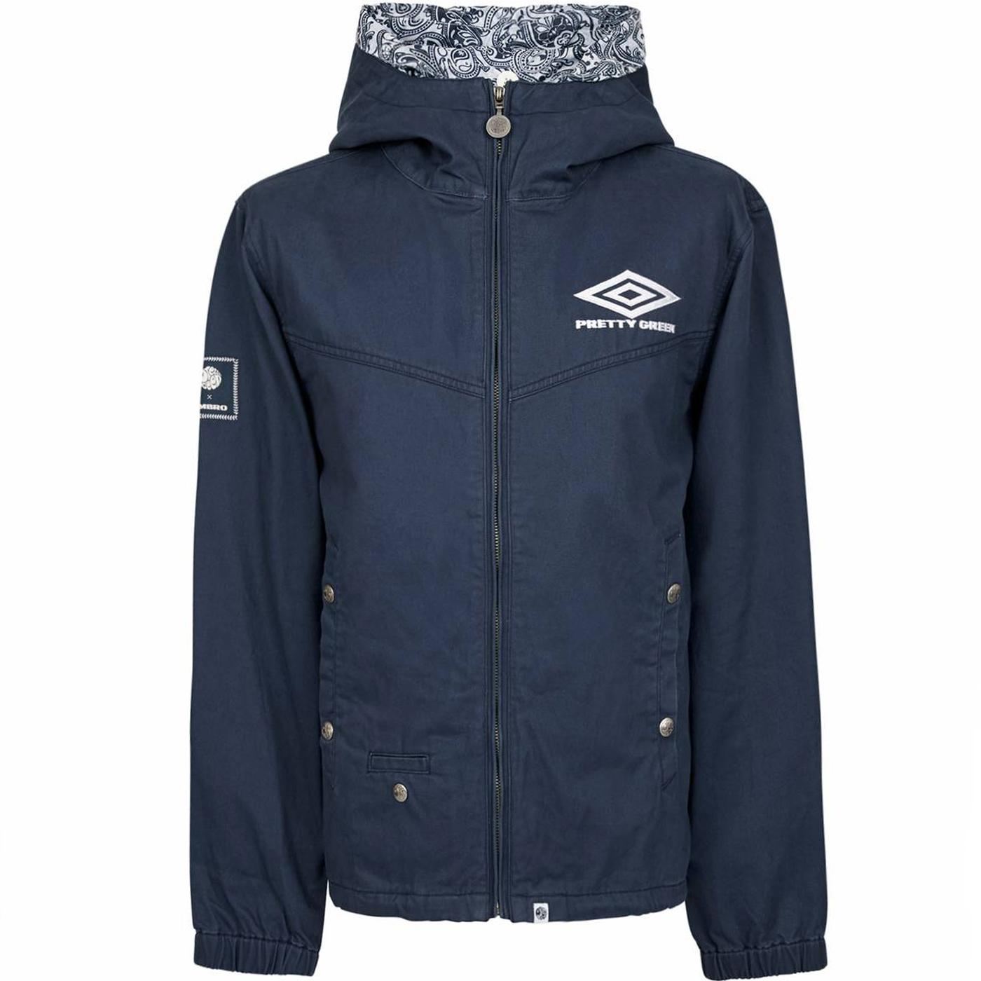 PRETTY GREEN X UMBRO Cotton Zip Up Hooded Jacket