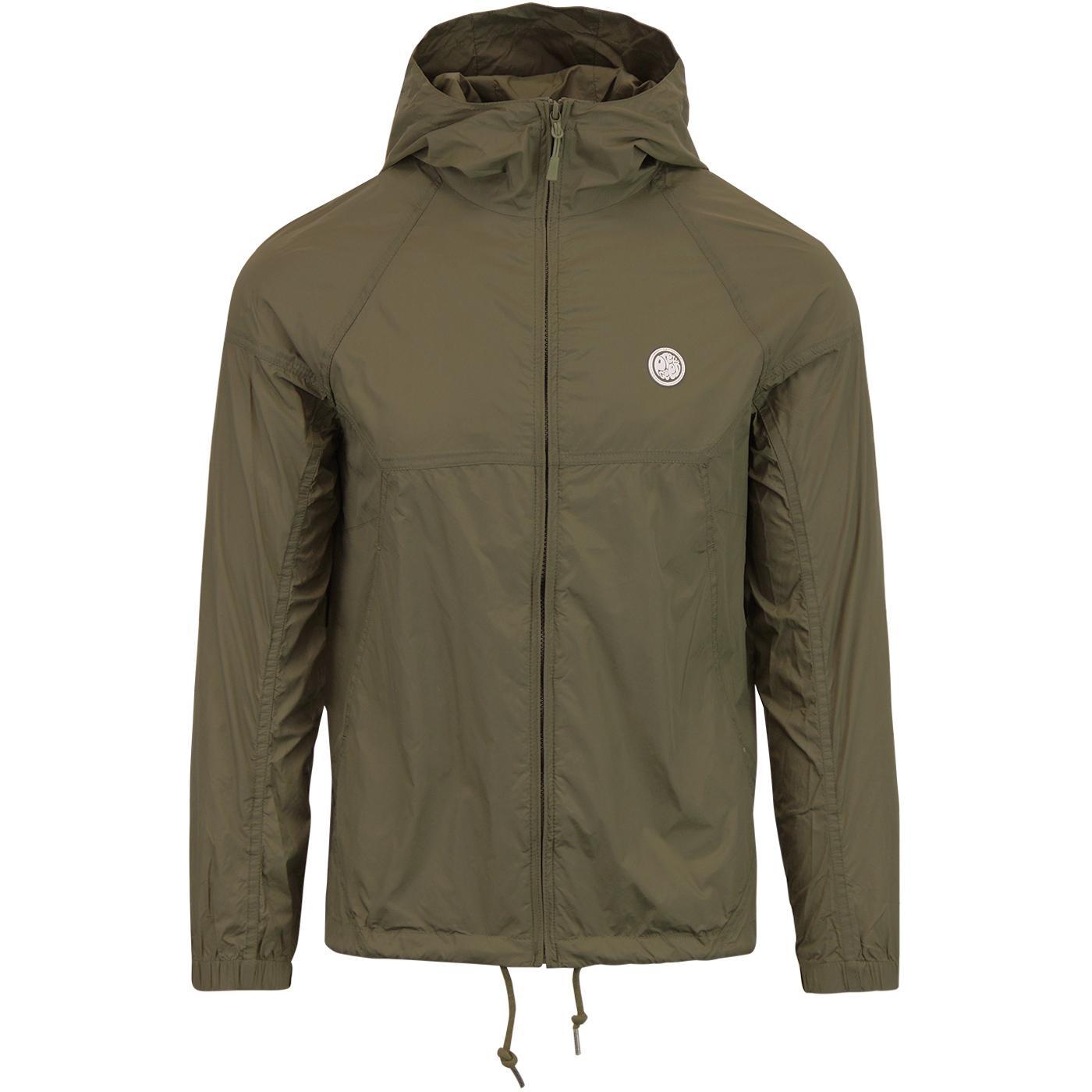 PRETTY GREEN Retro Lightweight Hooded Jacket KHAKI