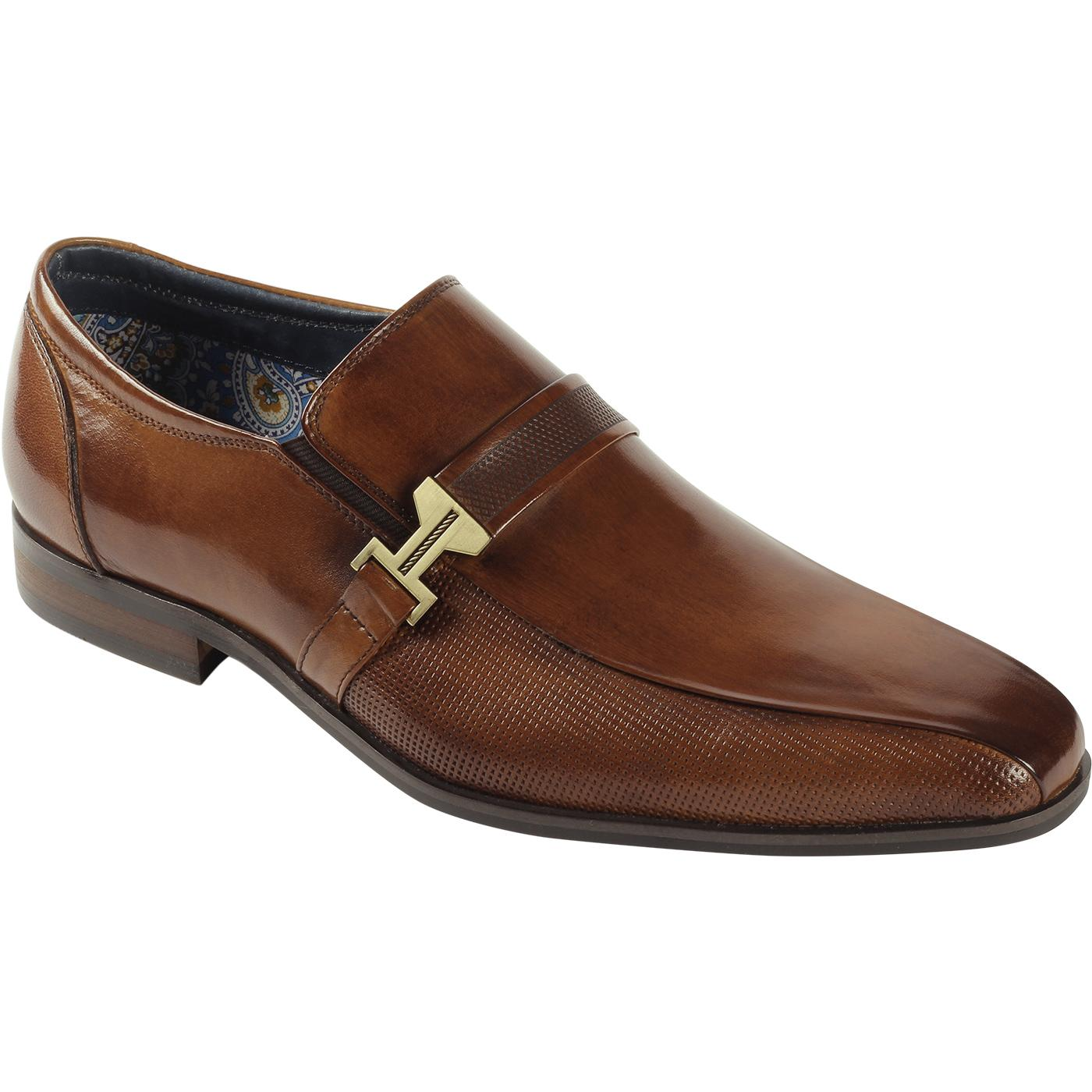 Elon PAOLO VANDINI Mod Square Toe Loafers (Tan)