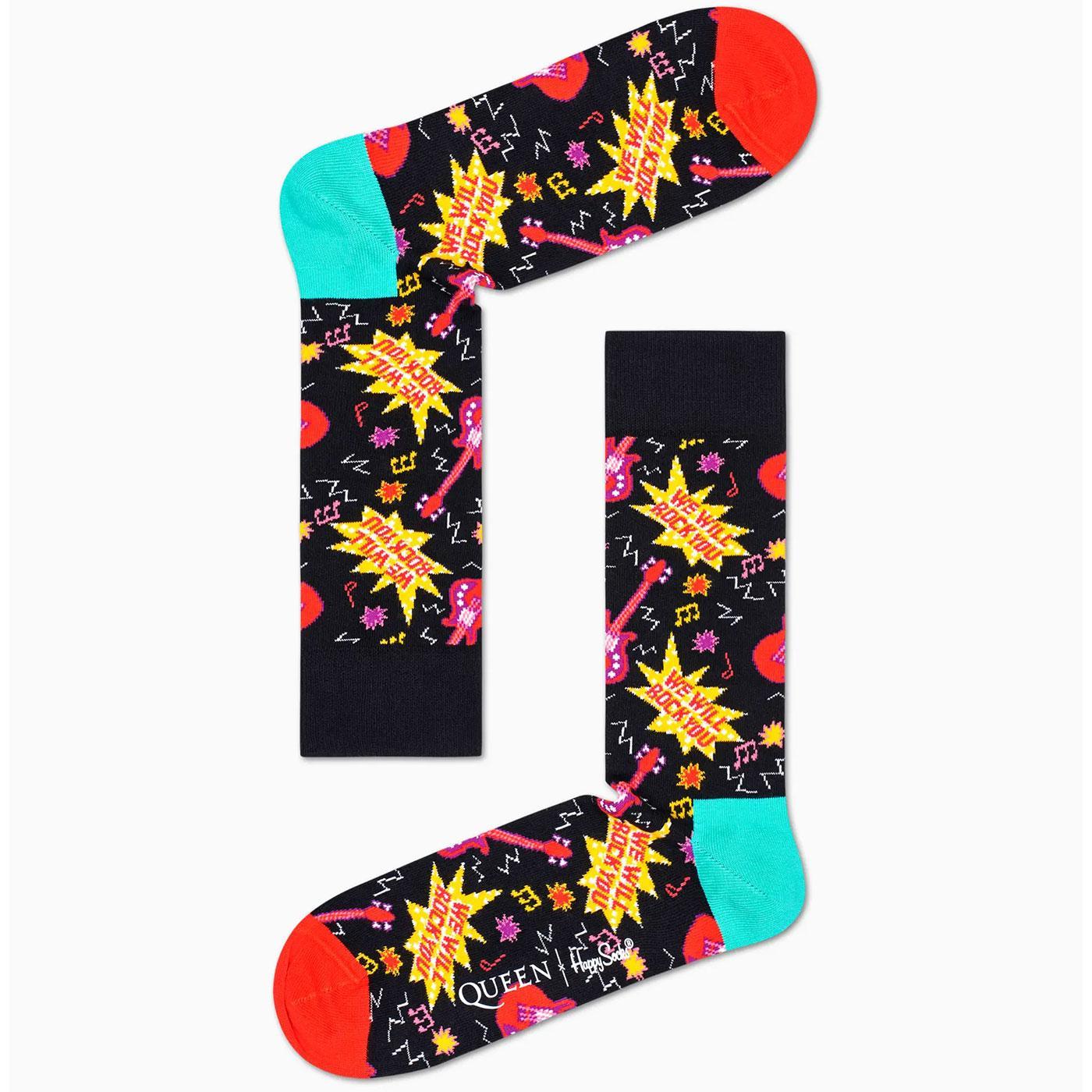 + HAPPY SOCKS X QUEEN We Will Rock You Socks