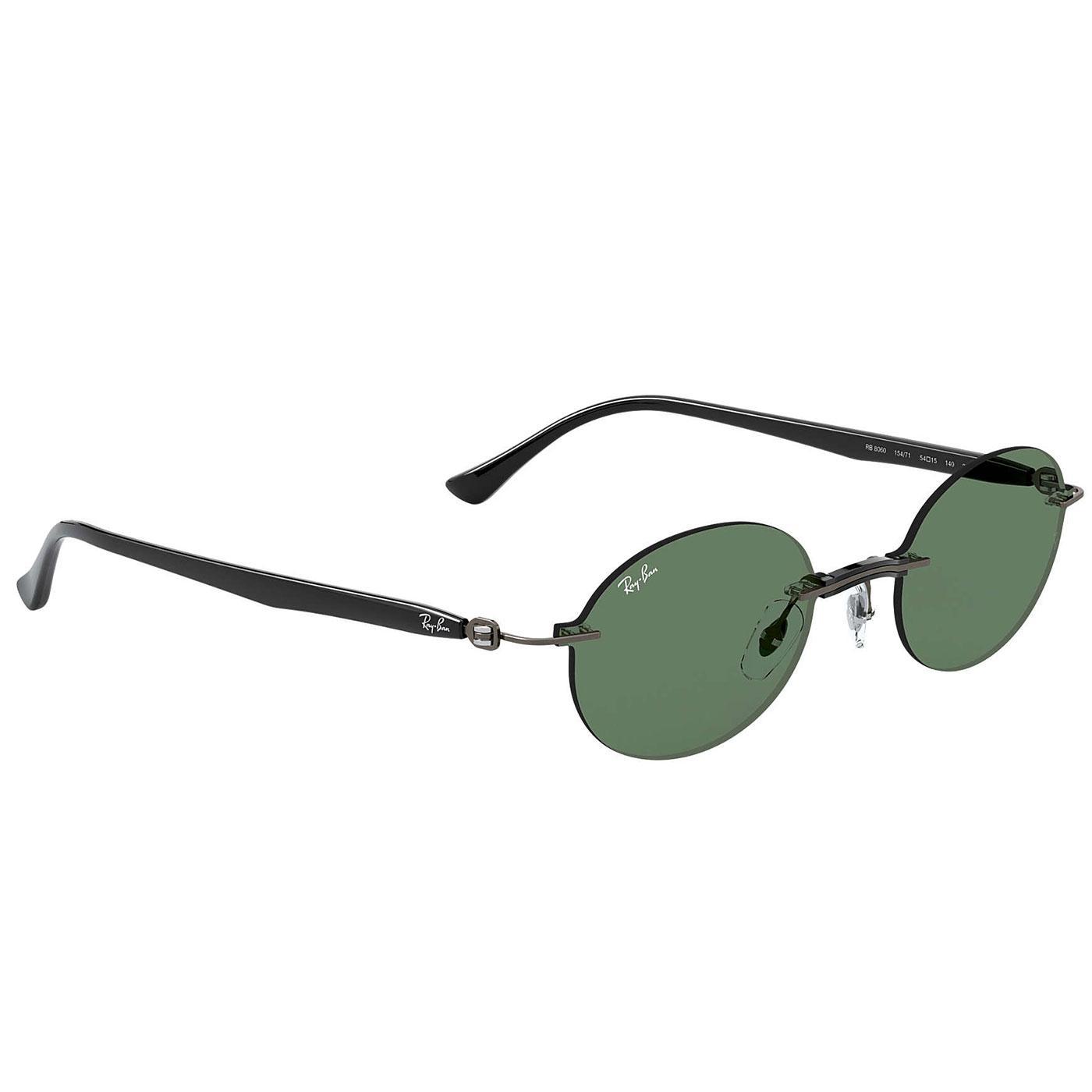 RAY-BAN RB8060 Women's Retro Oval Sunglasses