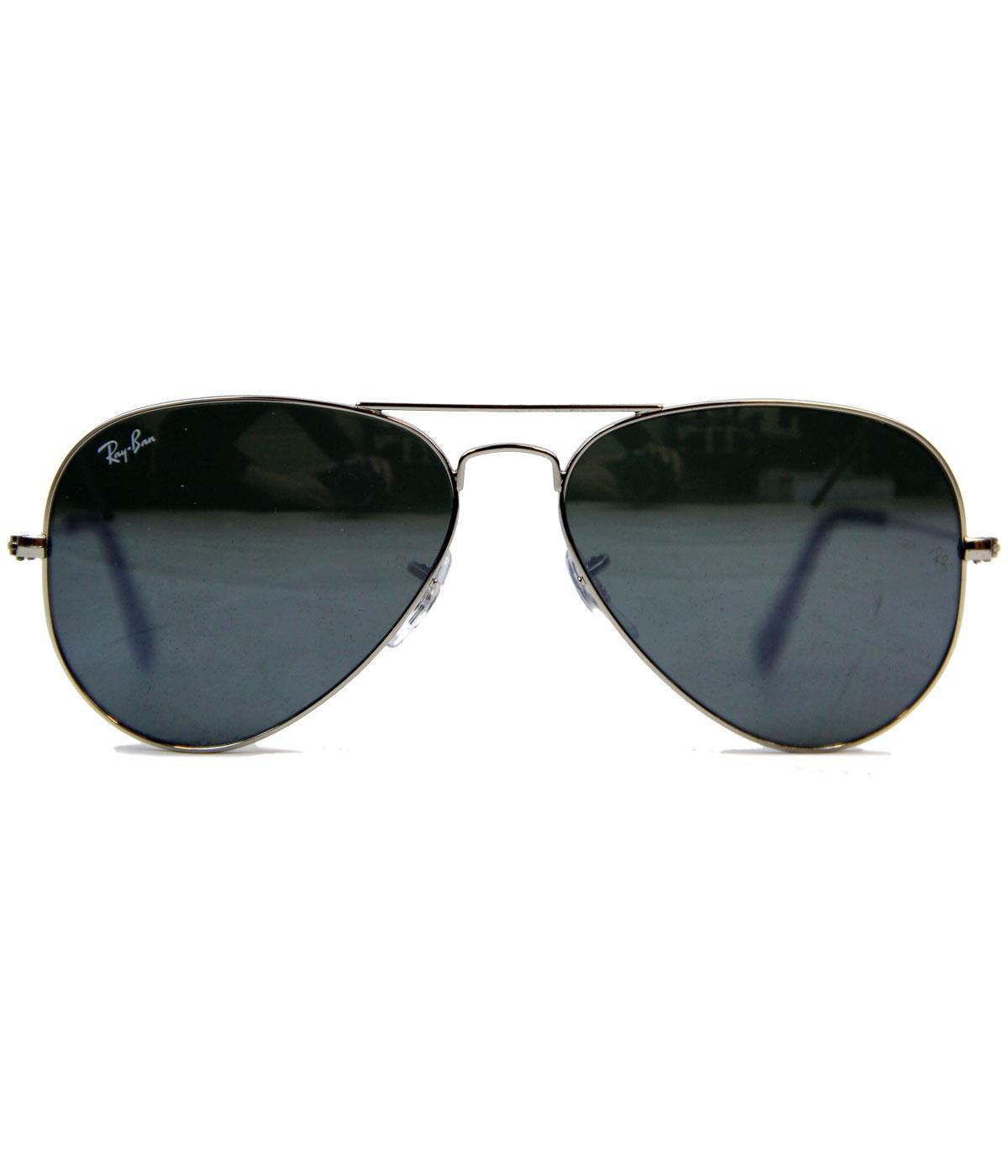 Ray ban aviator sunglasses in mirror lens retro icon for Ray ban aviator miroir
