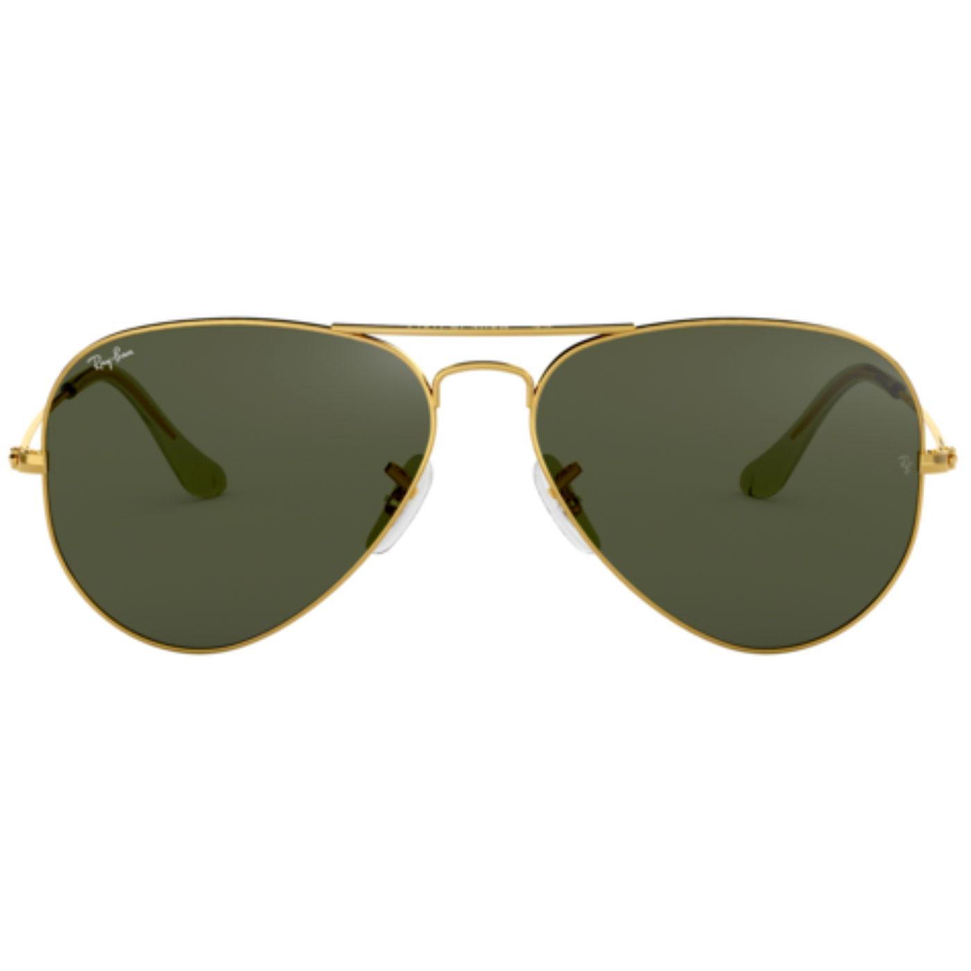 RAY-BAN Retro 60s Mod Aviator Sunglasses in Gold