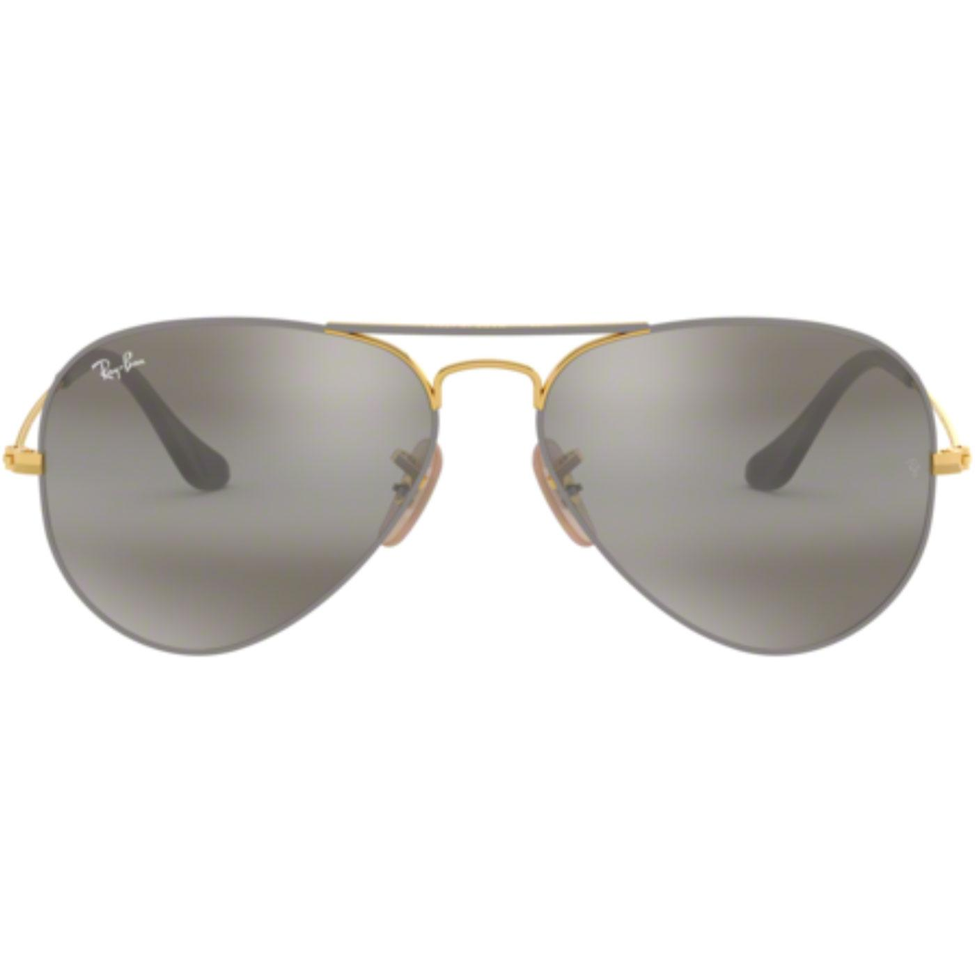 Aviator RAY-BAN Retro Mod Sunglasses in Gold/Grey