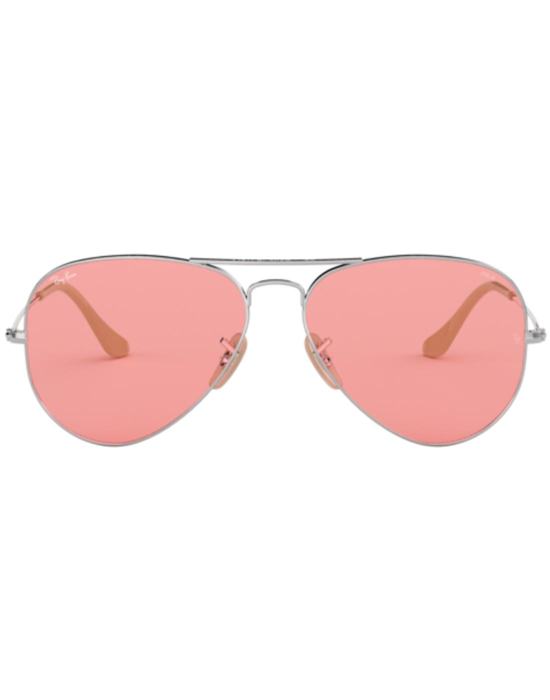 Aviator RAY-BAN Retro 70s Mod Sunglasses in Pink