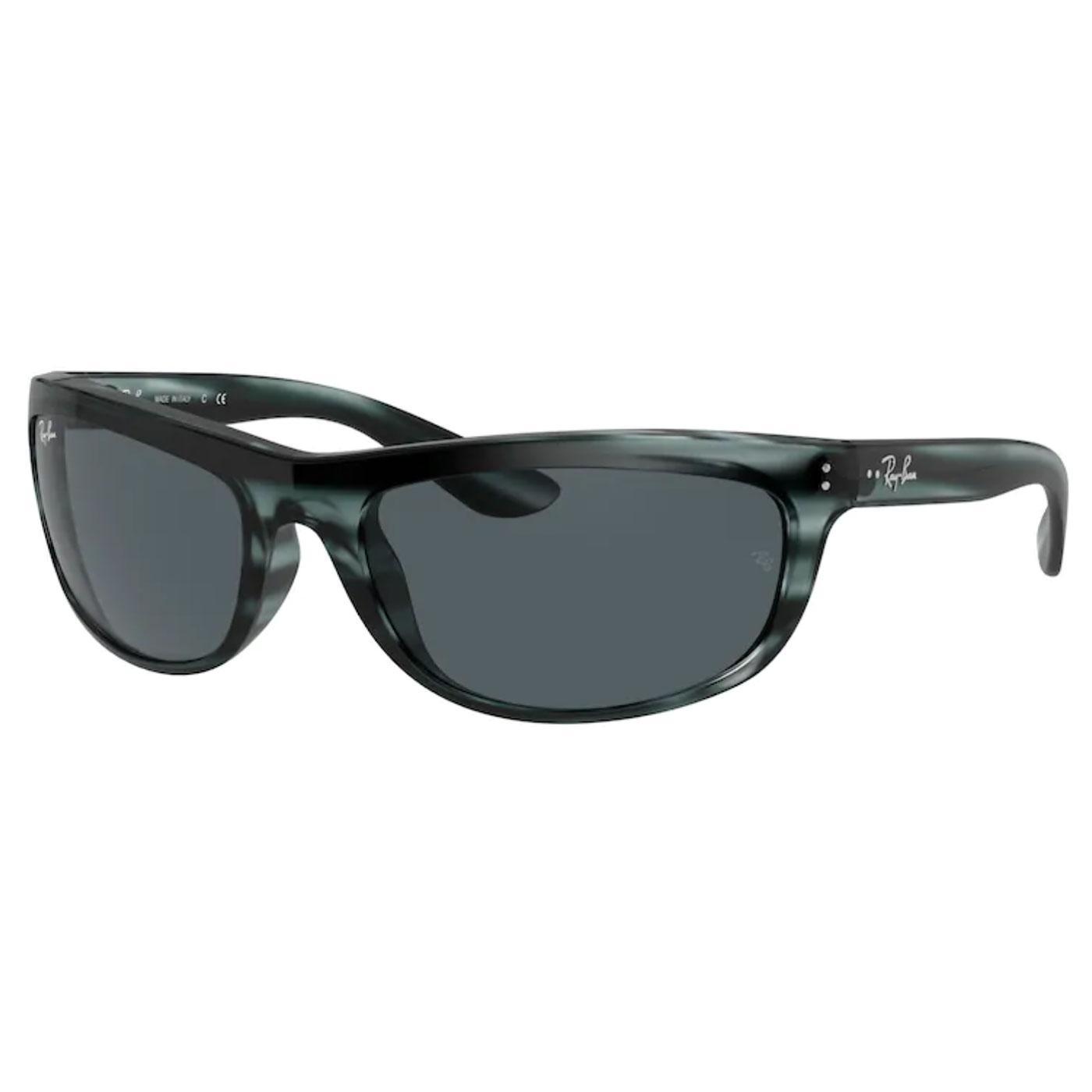 Balorama RAY-BAN Wrap Round Sunglasses - Blue/Grey